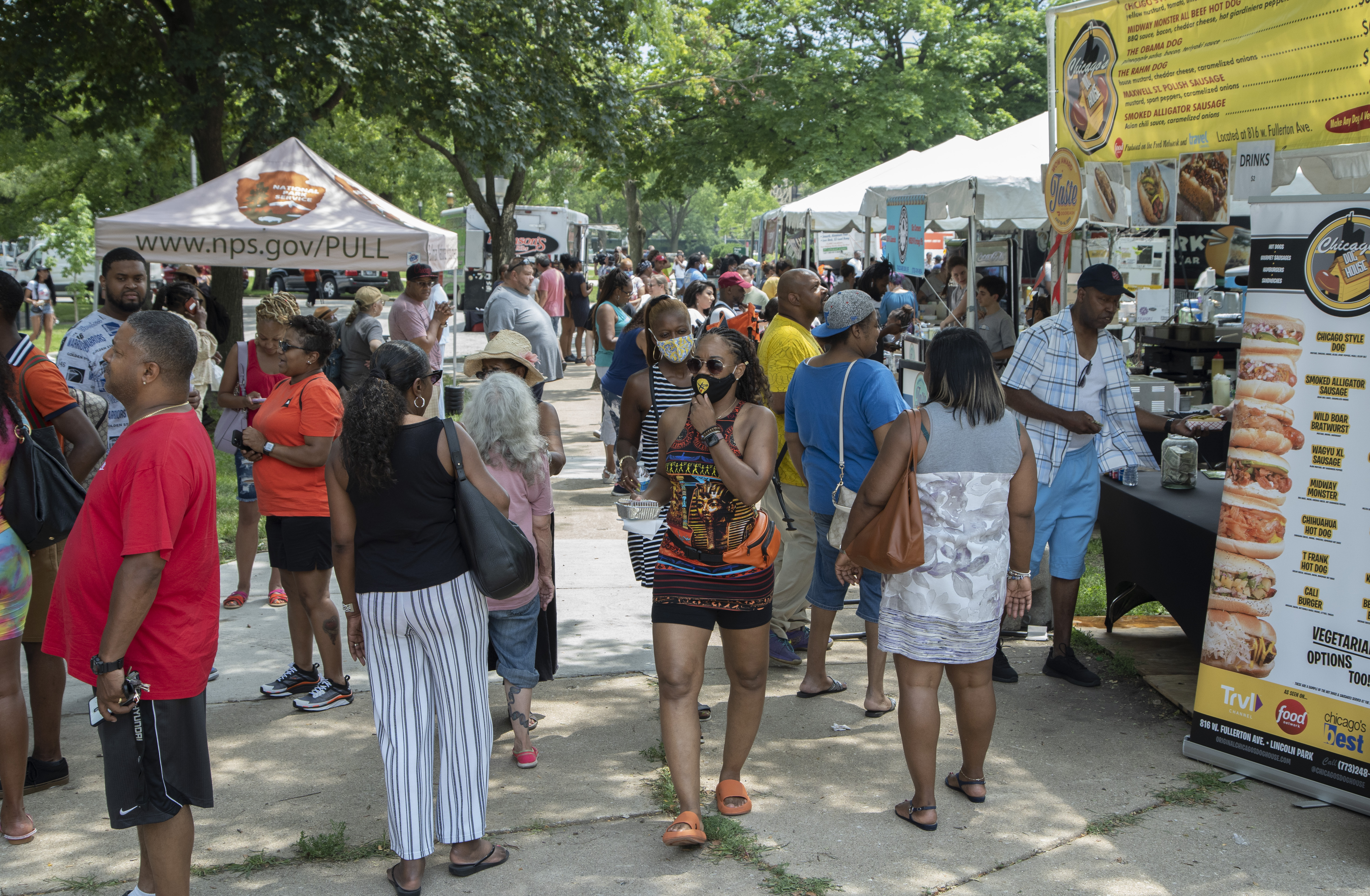 Taste of Chicago To-Go, a scaled down, roaming pop-up food festival, kicked off in Pullman on Wednesday. It replaces the massive Taste of Chicago in Grant Park, which was canceled for the second year due to the pandemic.