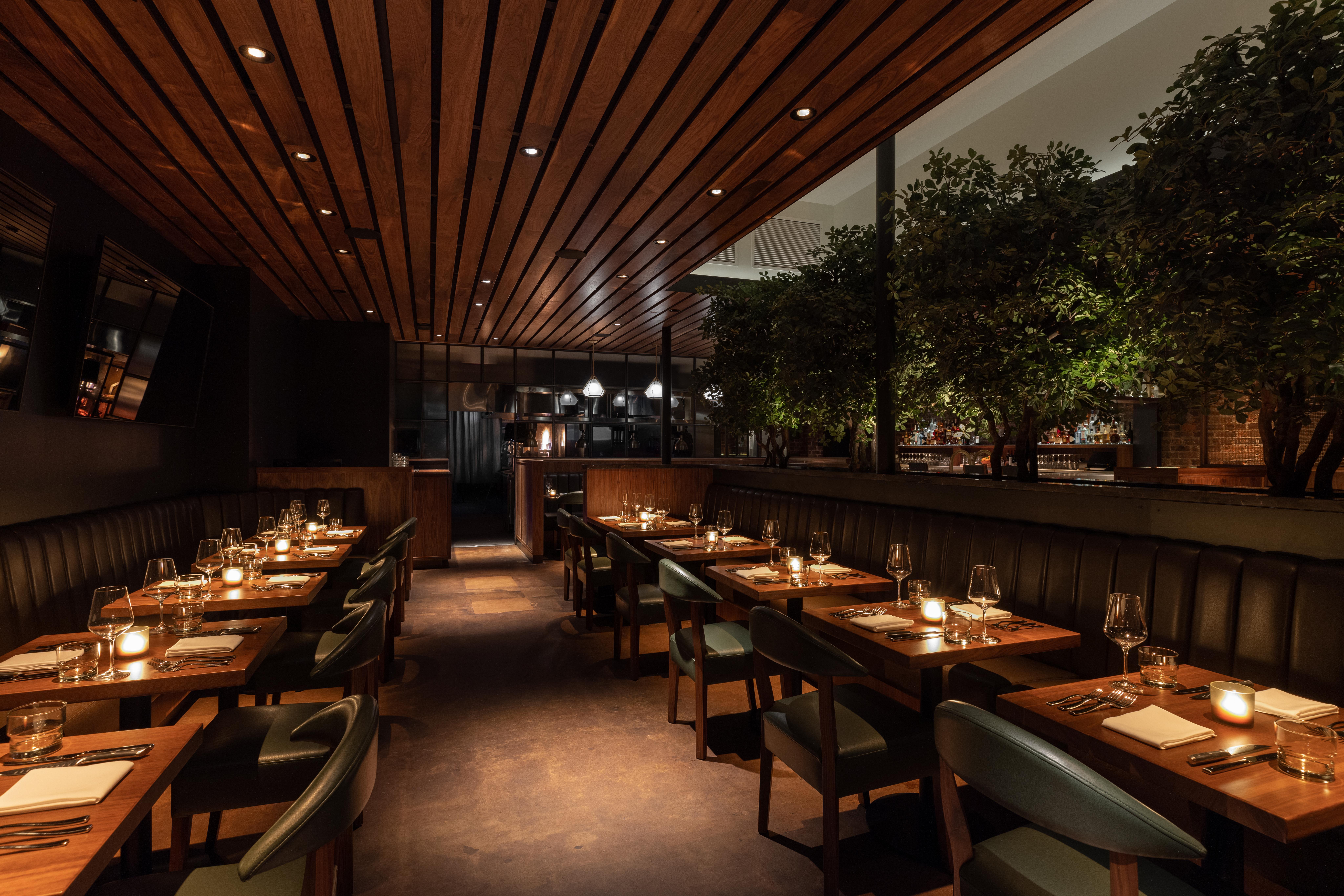 Matu restaurant interior in Beverly Hills, California