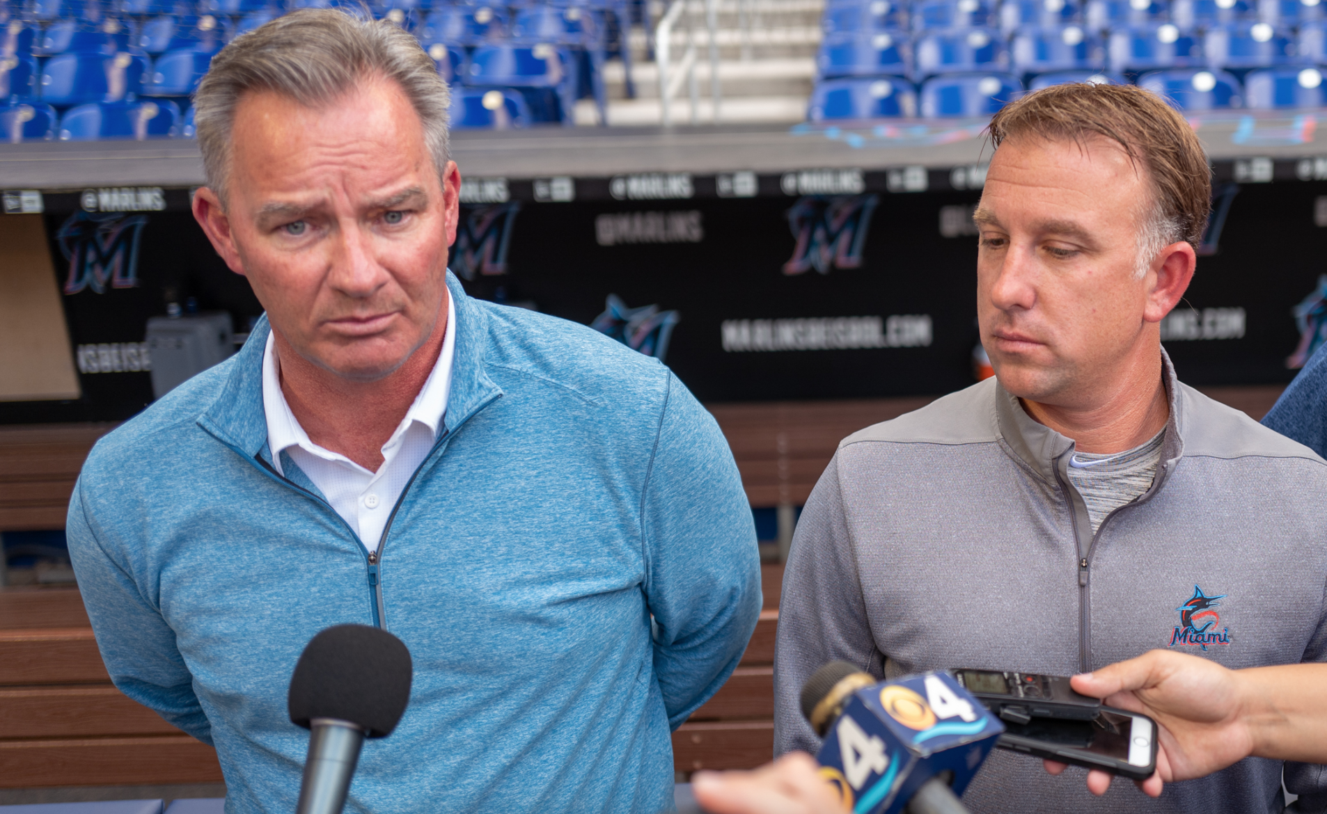 Vice President, Player Development and Scouting Gary Denbo, Director, and Amateur Scouting DJ Svihlik of the Miami Marlins speak with the media regarding the upcoming MLB Draft