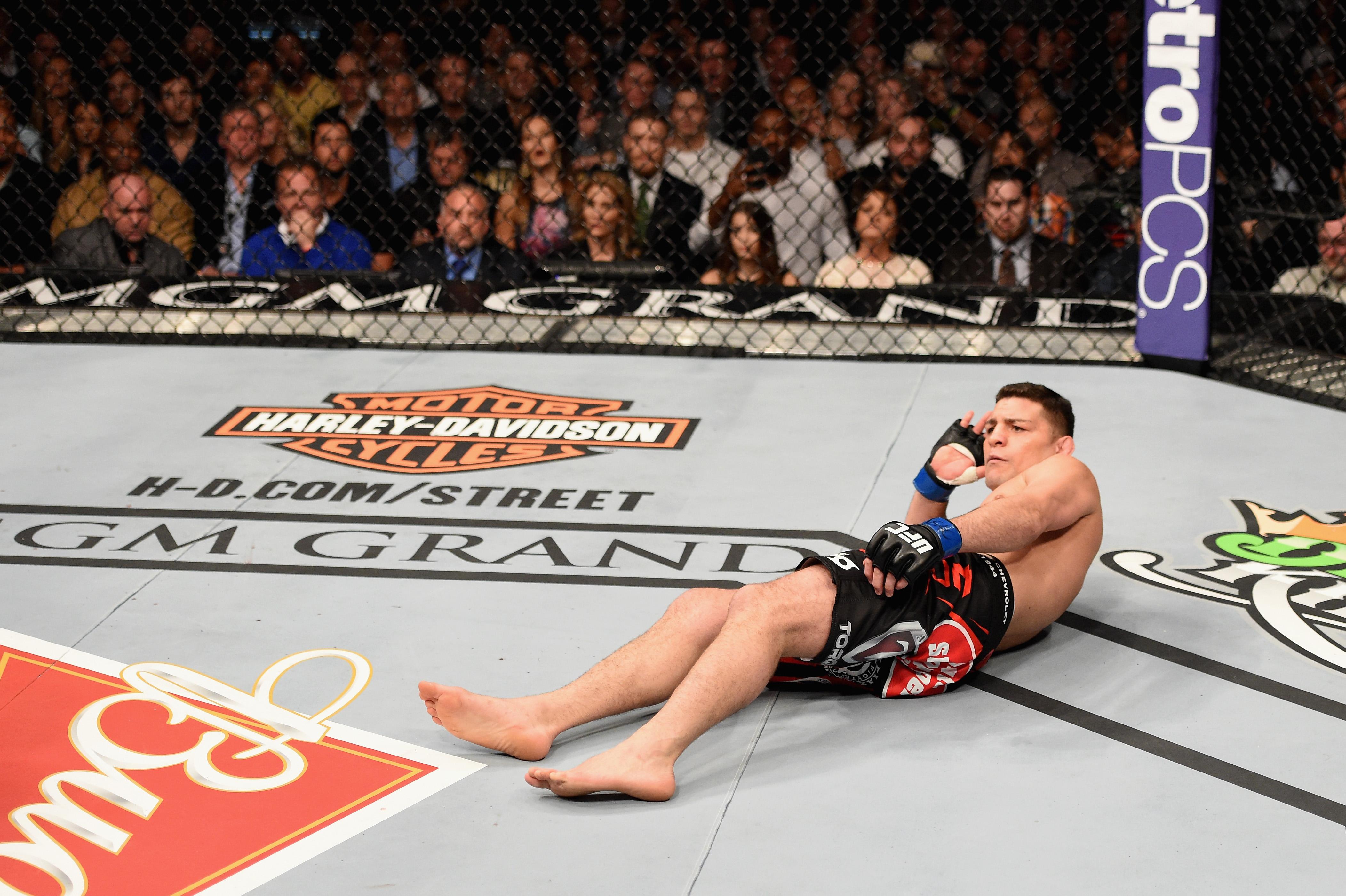 Robbie Lawler vs. Nick Diaz 2 is at pick'em odds for UFC 266