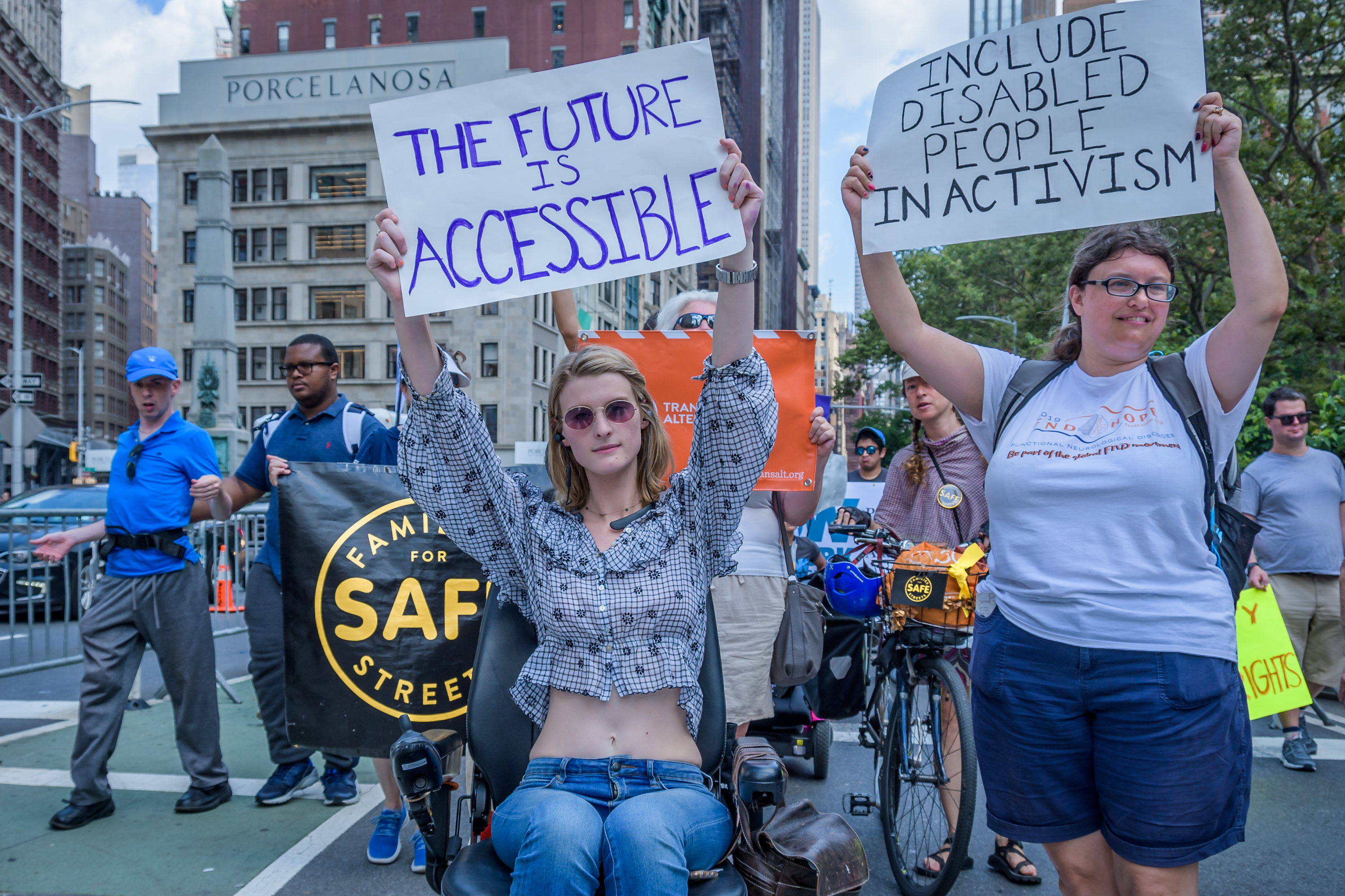 New York celebrated the fifth annual Disability Pride with a...