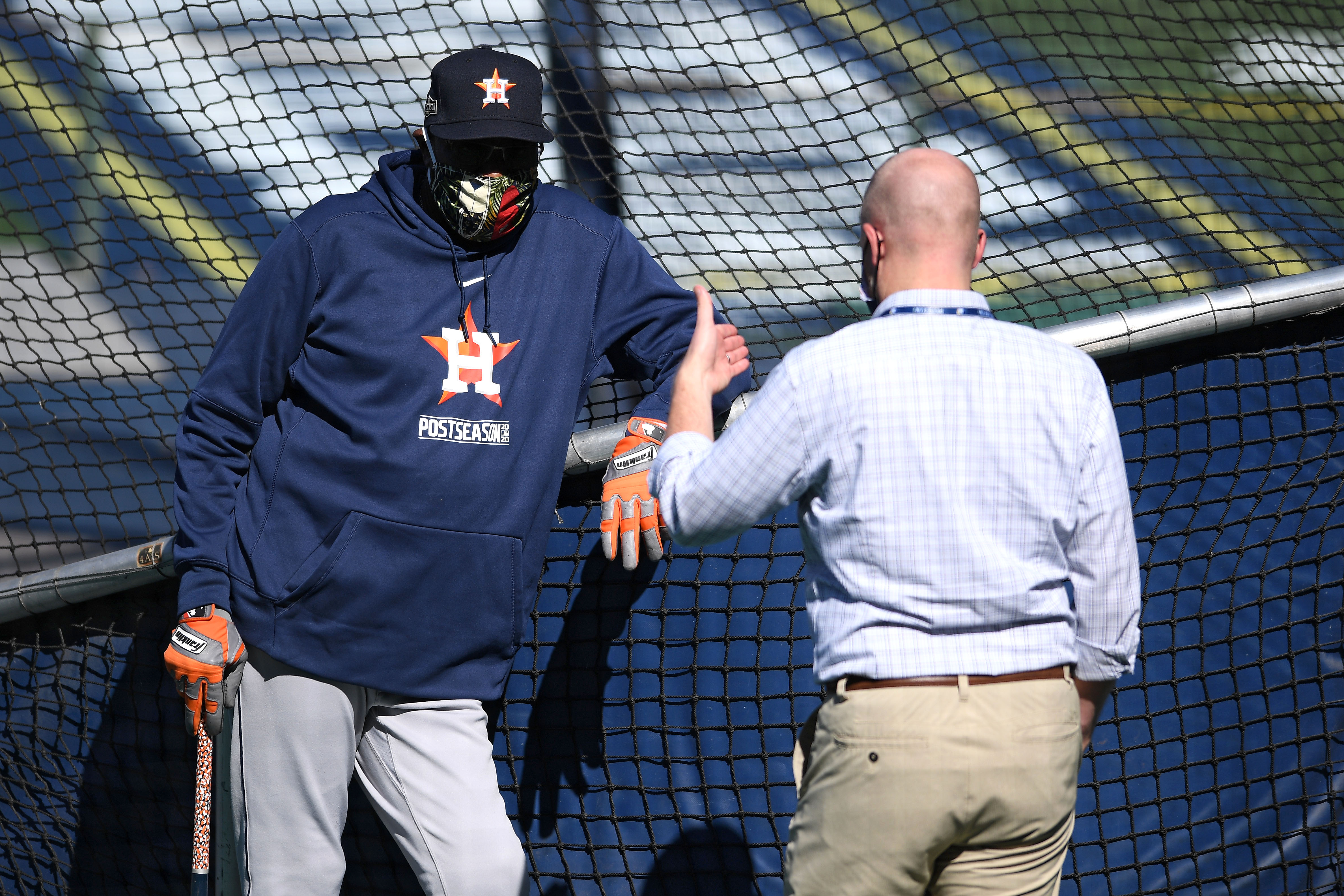 MLB: ALCS-Astros Workouts