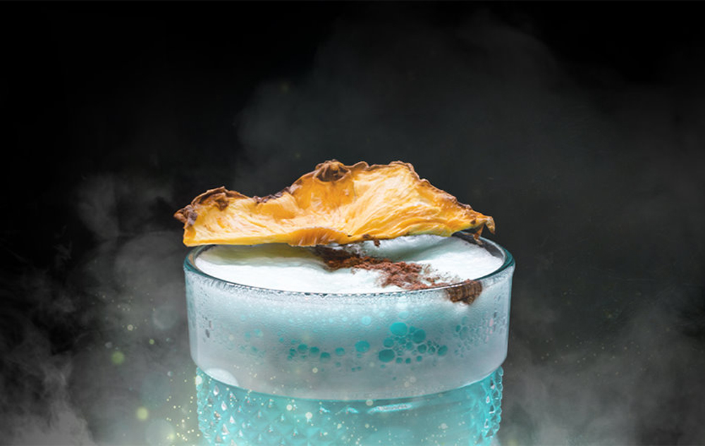 A themed cocktail, soon to be served at the Paniq Room game experience, opening soon at the Grand Canal Shoppes.