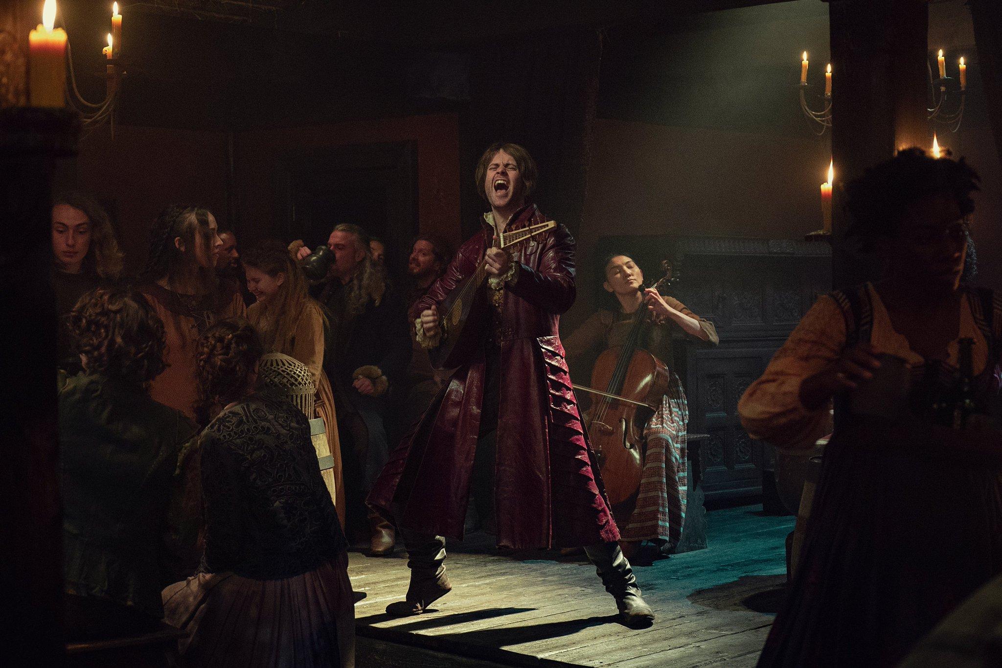 Jaskier from The Witcher season 2 on Netflix