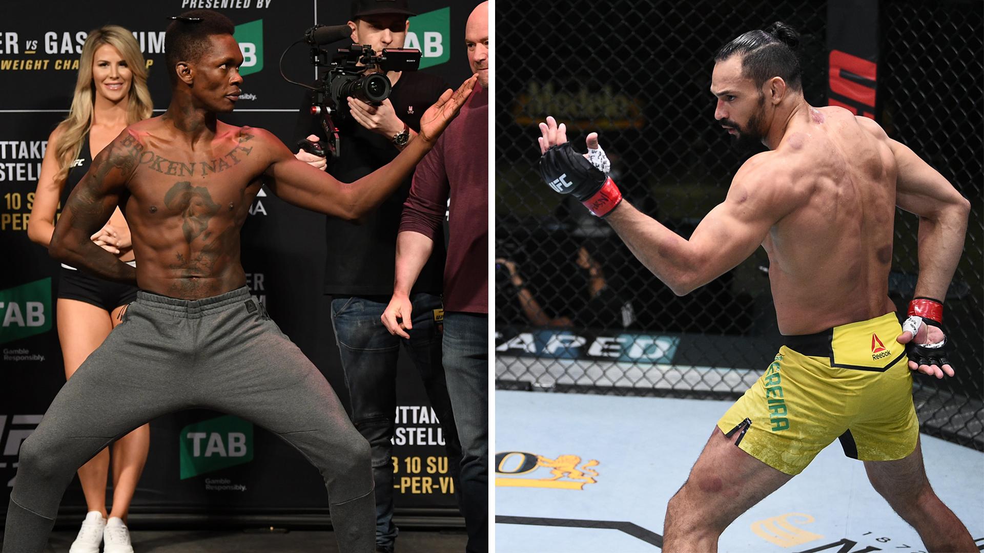 Israel Adesanya Michel Pereira UFC MMA news