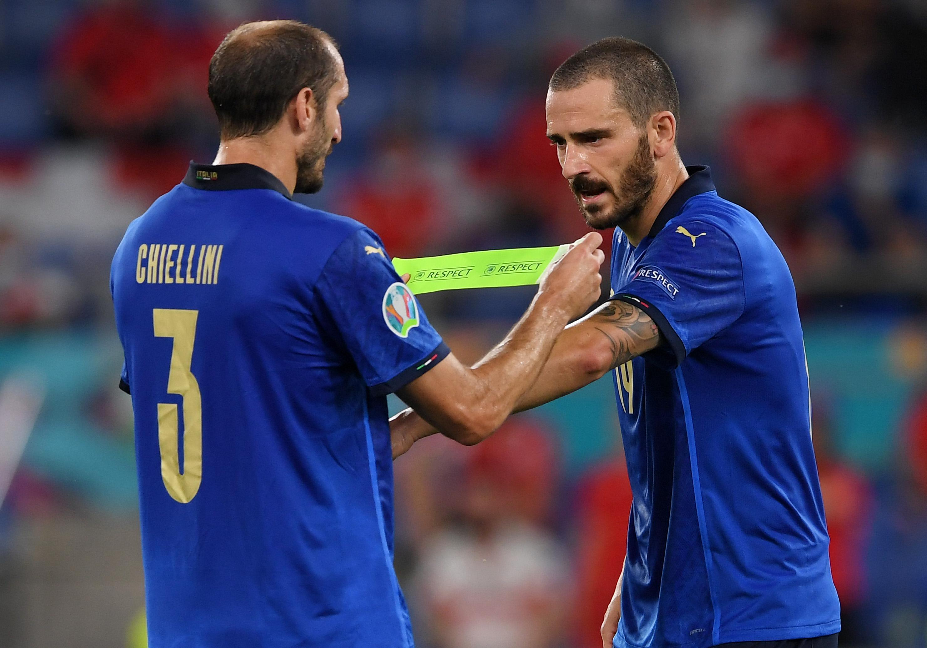 Giorgio Chiellini and Leonardo Bonucci - Italy - UEFA Euro 2020