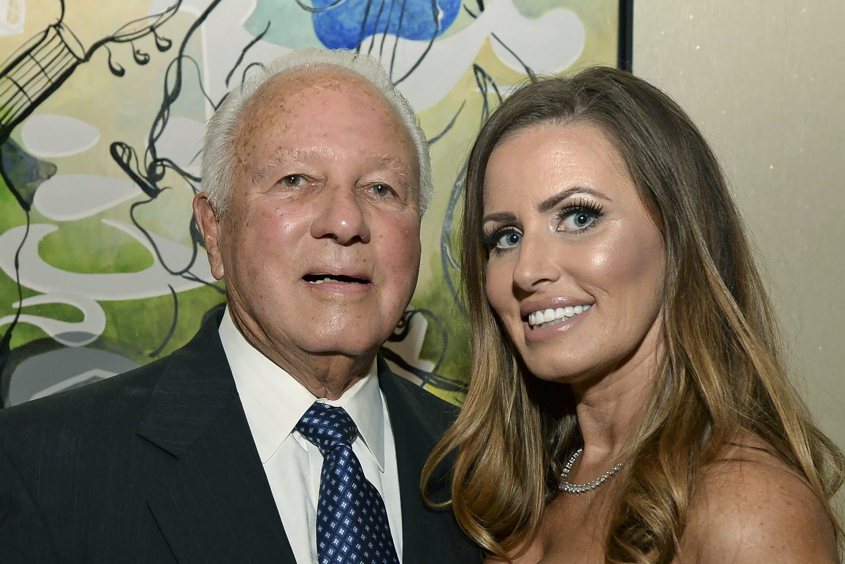 Former Louisiana Gov. Edwin Edwards, left, celebrates his 90th birthday with his wife, Trina Edwards, at the Renaissance Hotel in Baton Rouge, La., in this Aug. 12, 2017, file photo.
