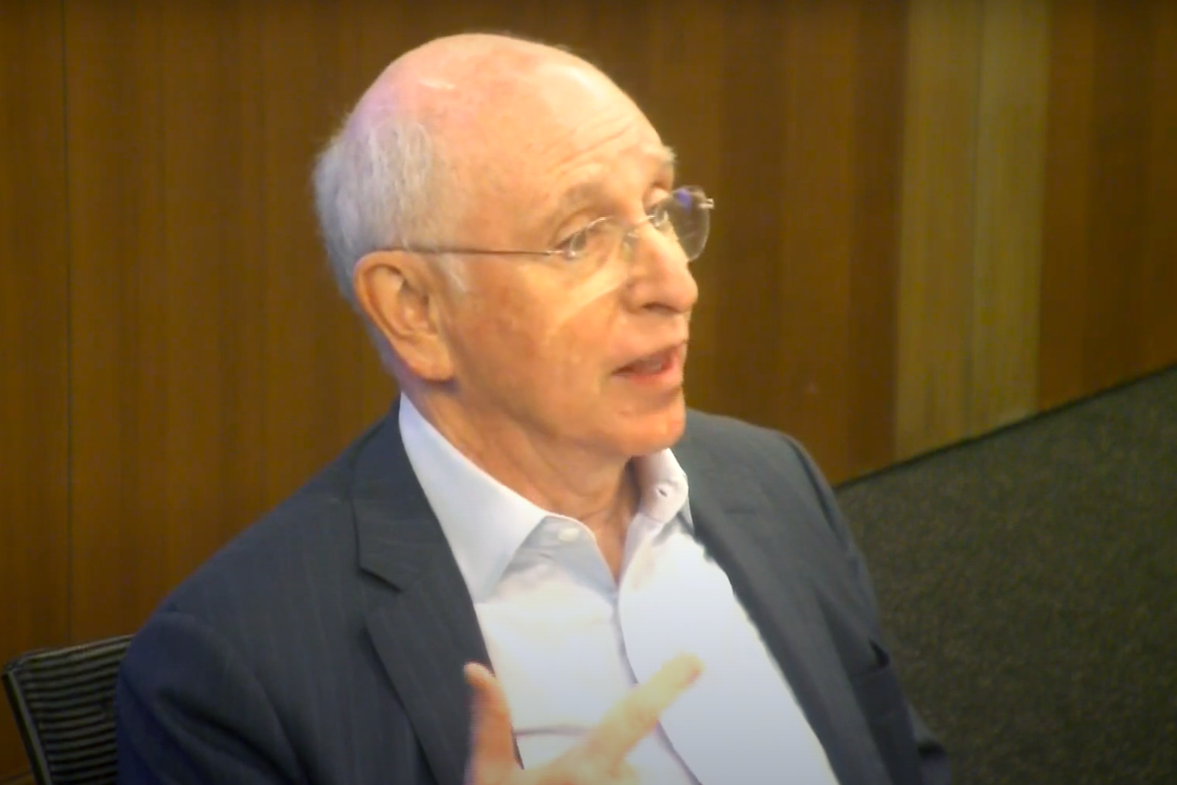 CUNY Board of Trustee Henry Berger speaks about budget shortfalls during a meeting on July 6, 2021.
