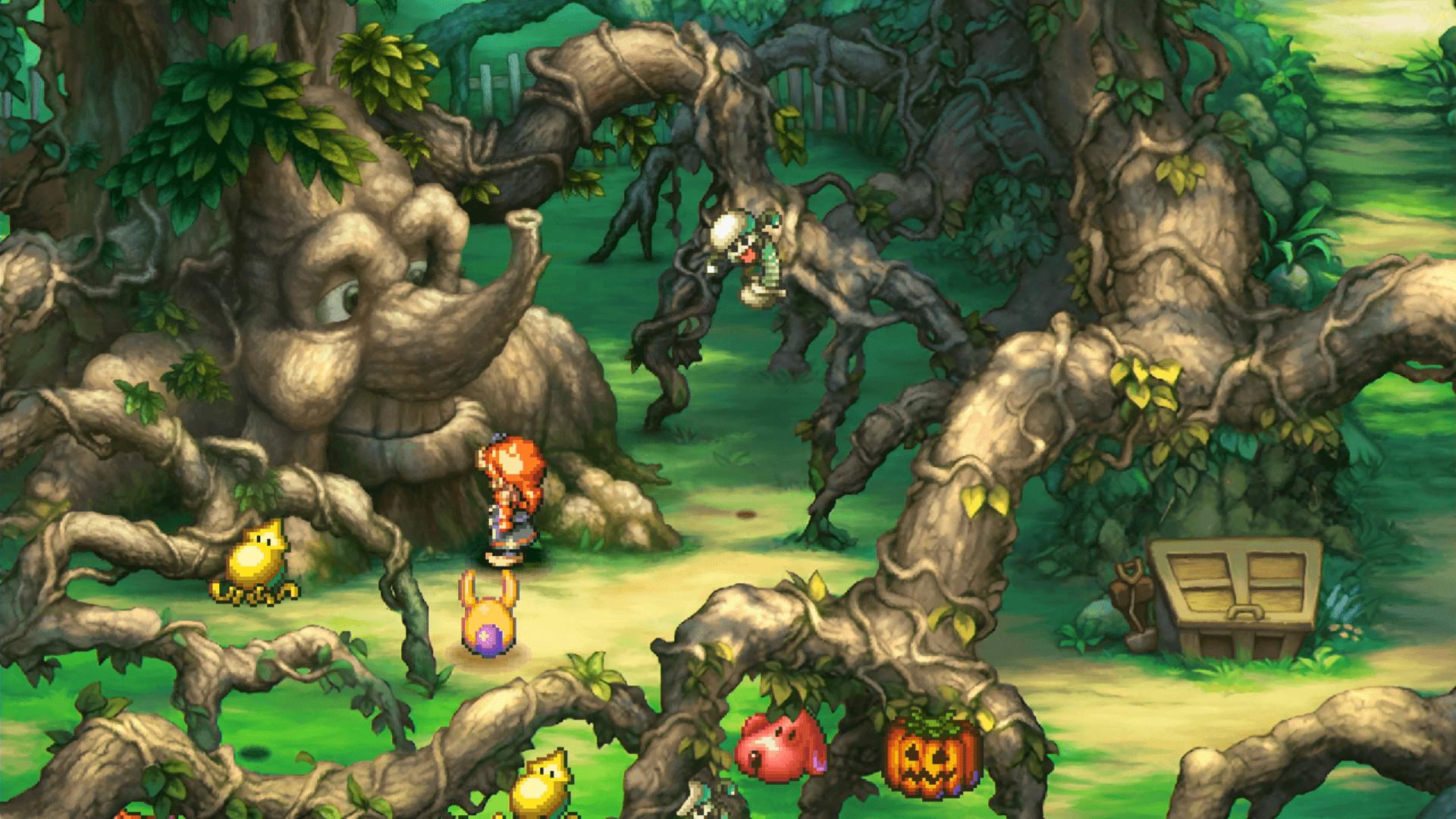 A talking tree in Legend of Mana's HD Remaster