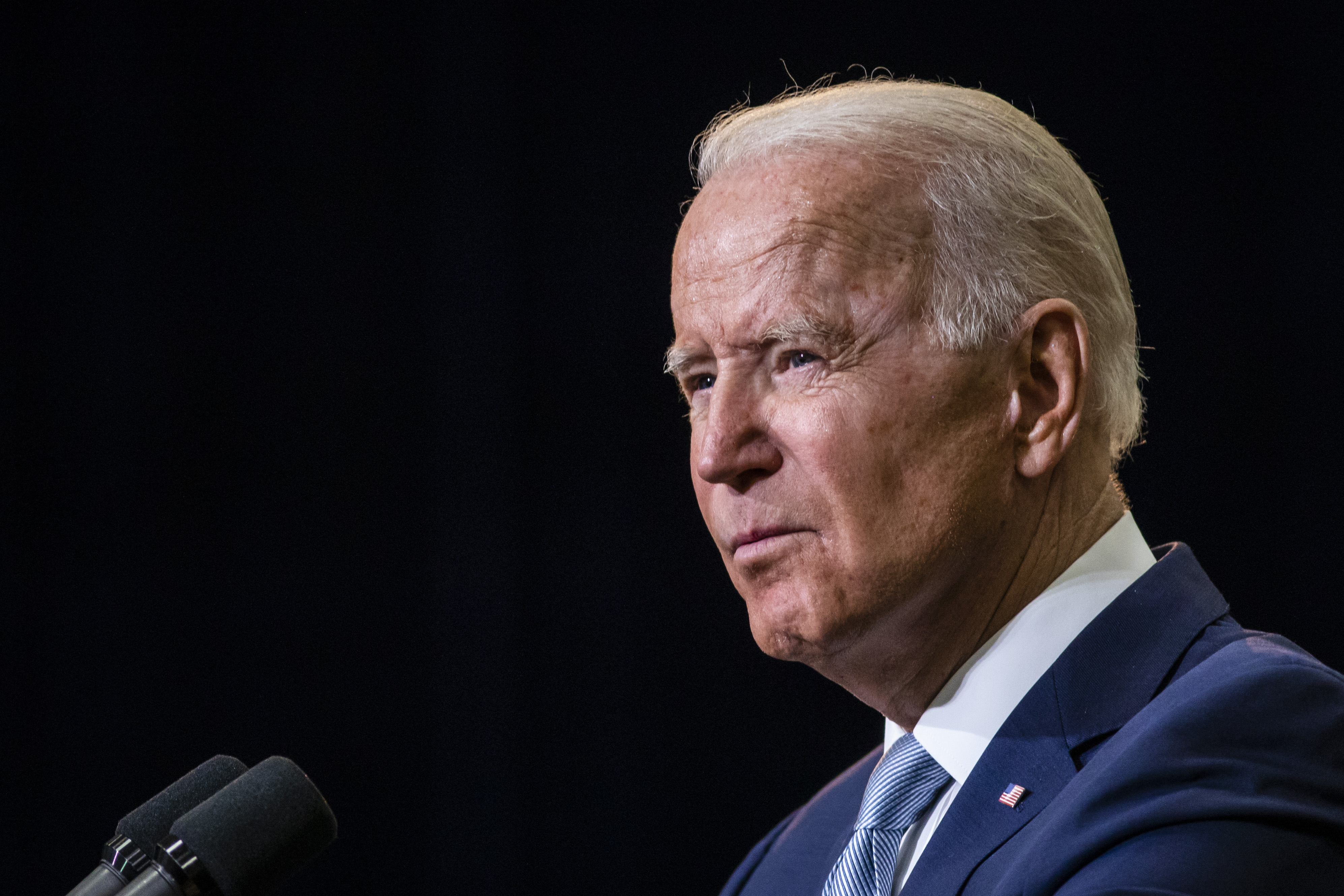 President Joe Biden speaks at McHenry County College in Crystal Lake, Wednesday afternoon, July 7, 2021.