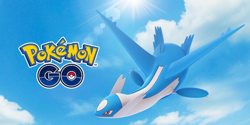Latios from Pokémon Go poses in the sky