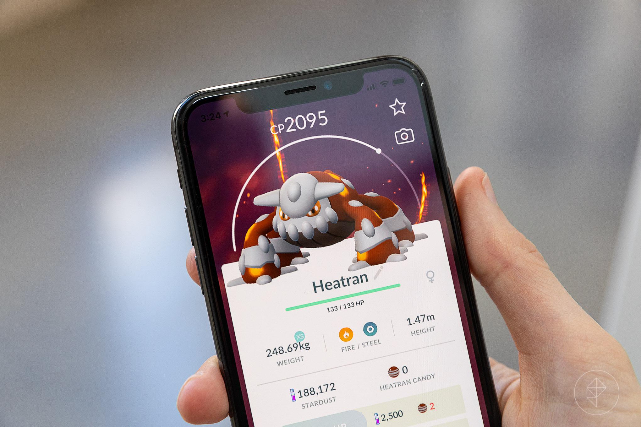 Heatran in Pokémon Go