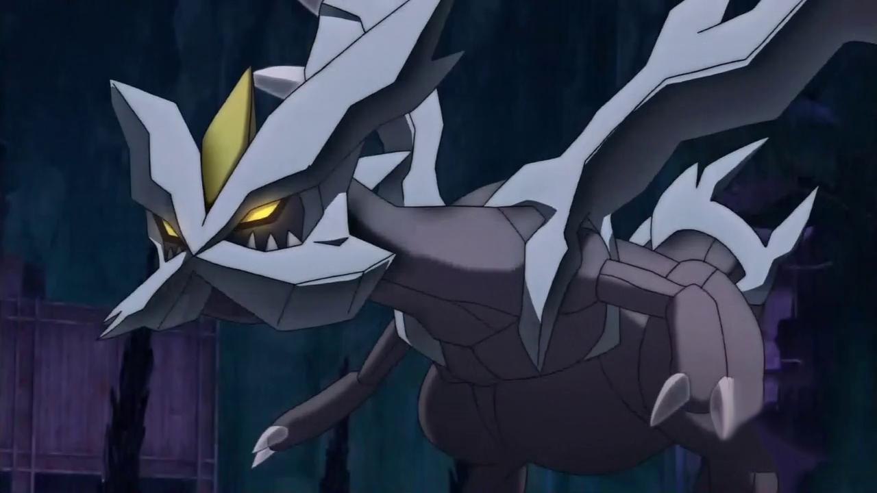 Kyurem stands menacingly in the darkness