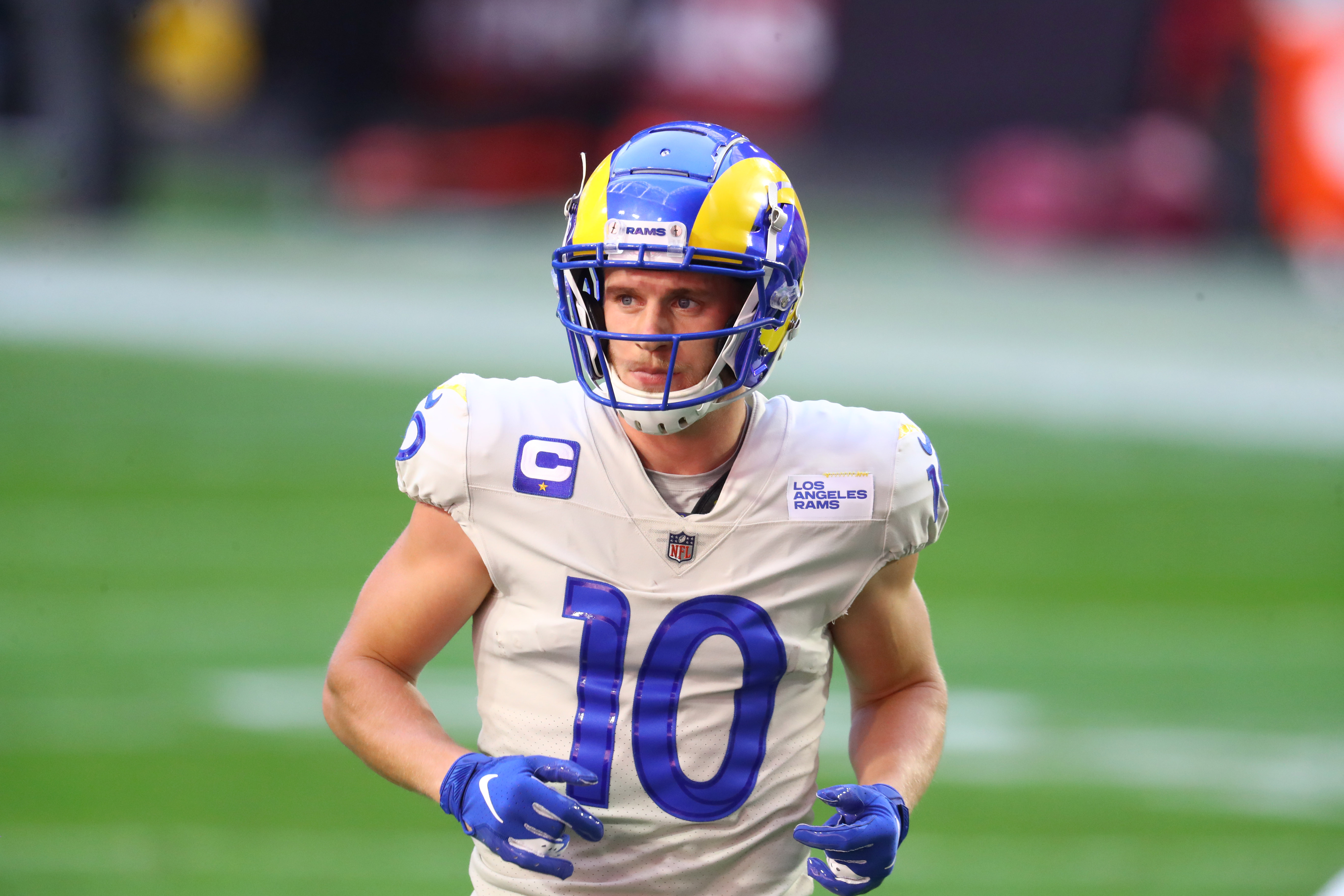 Los Angeles Rams wide receiver Cooper Kupp (10) against the Arizona Cardinals at State Farm Stadium.