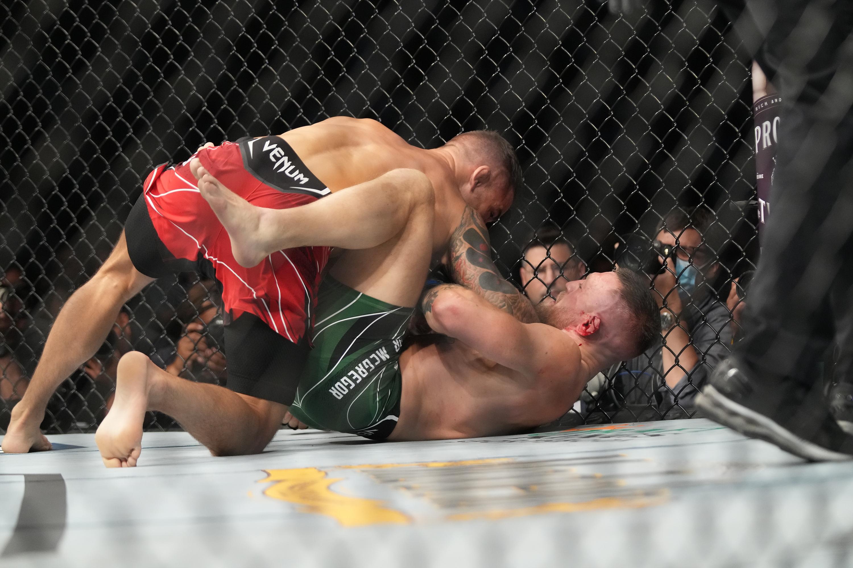 Dustin Poirier defeated Conor McGregor at UFC 264 via TKO