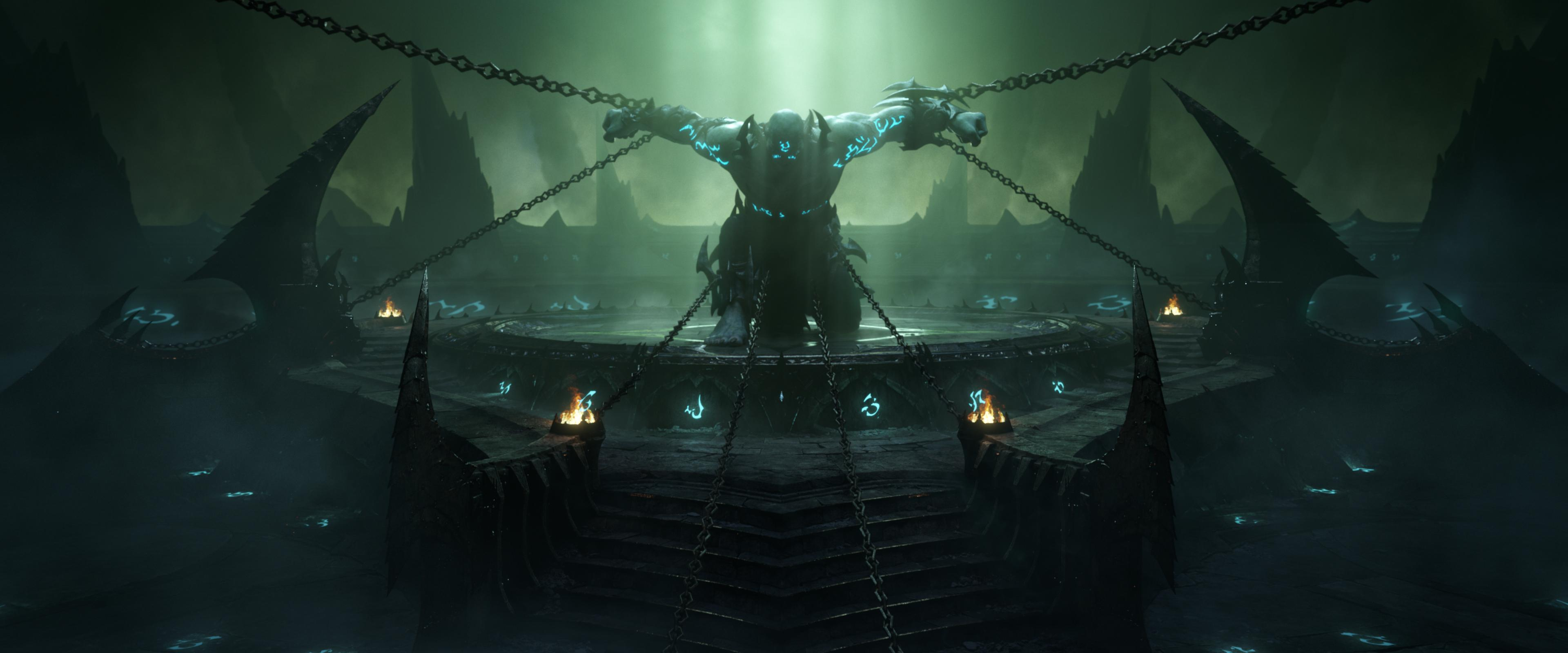 World of Warcraft - the Jailer is chained in Torghast, Tower of the Damned