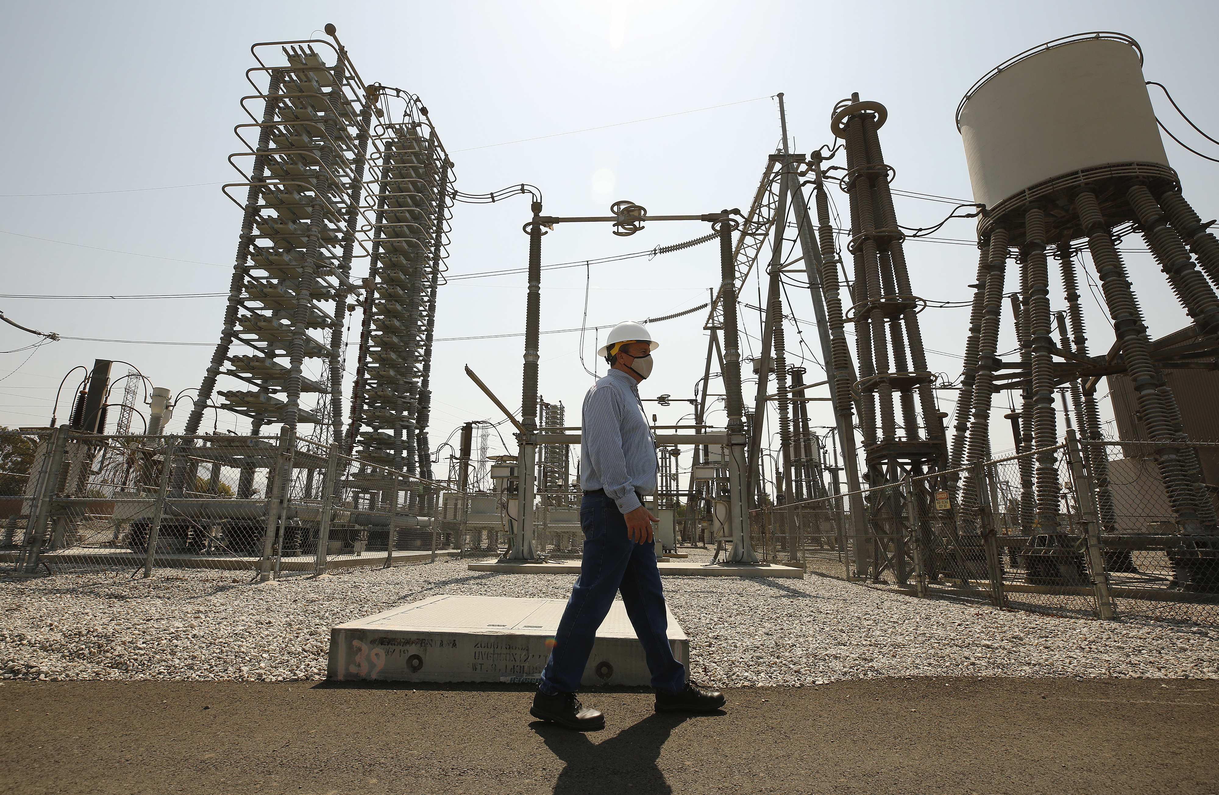 Sylmar Converter Station, a piece of power grid infrastructure operated by LADWP, for a story about how an Oregon wildfire almost caused the lights to go out in California on Friday night. Sylmar Converter Station is the terminus of the Pacific DC Intertie