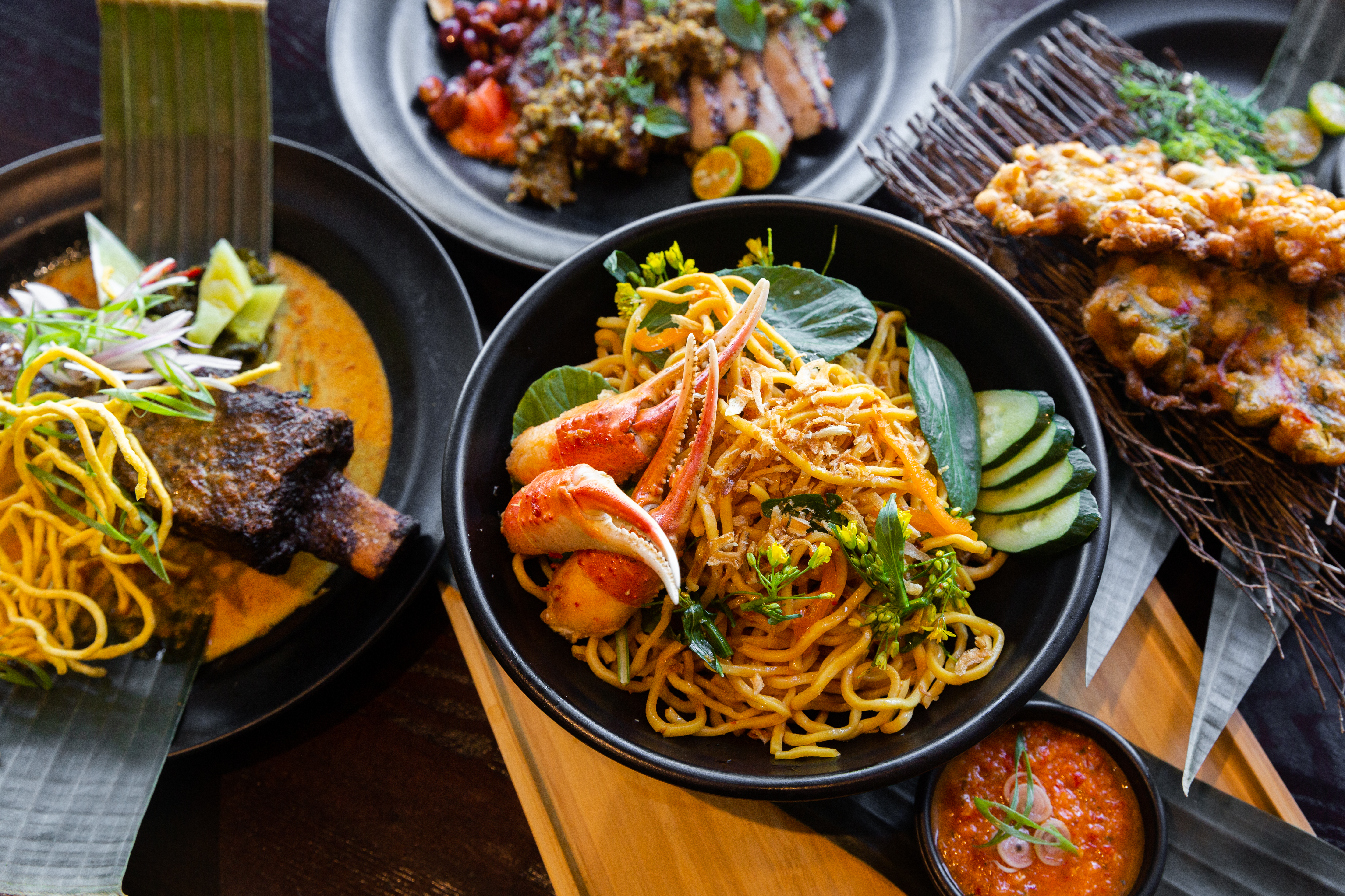 A selection of modern Indonesian dishes from Warung Siska