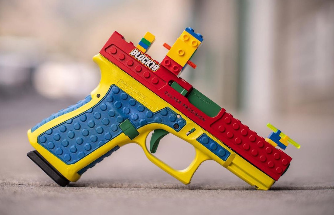 Provo-based Culper Precision says it has stopped selling a kit that encases Glock handguns in Lego blocks.