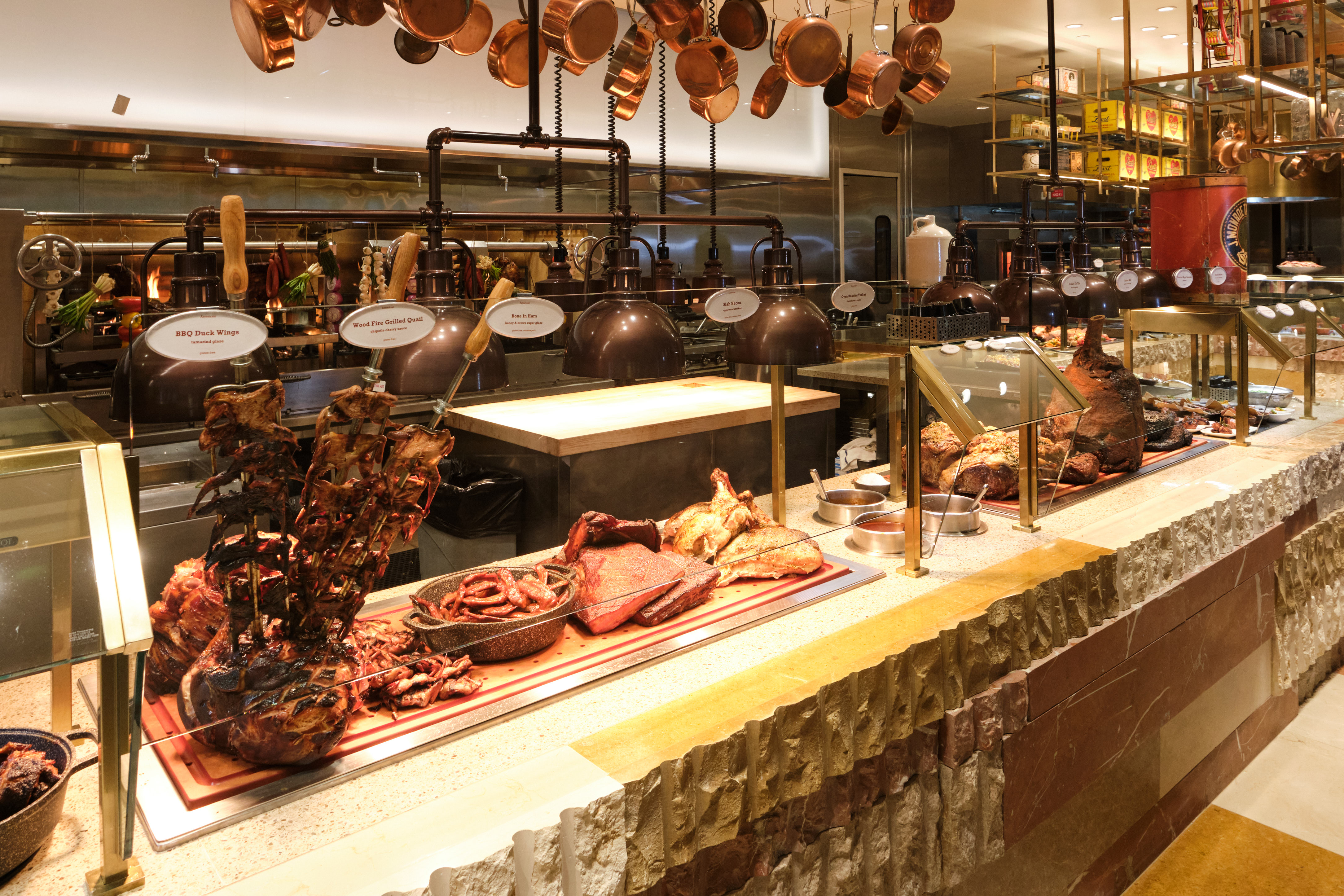 Meats carved at Bacchanal Buffet