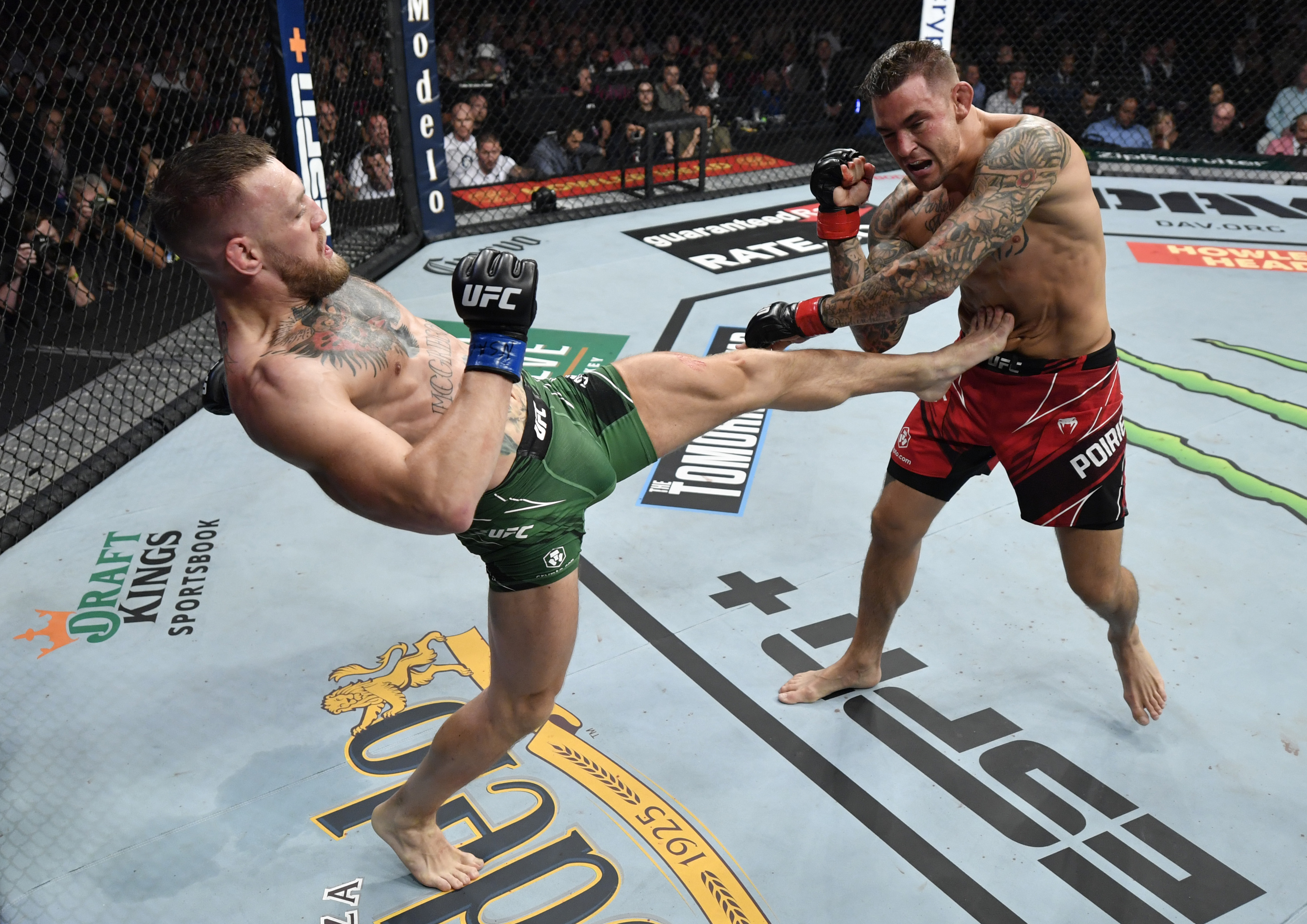 Conor McGregor said entered UFC 264 with stress fractures on his left leg, which likely led to his injury.