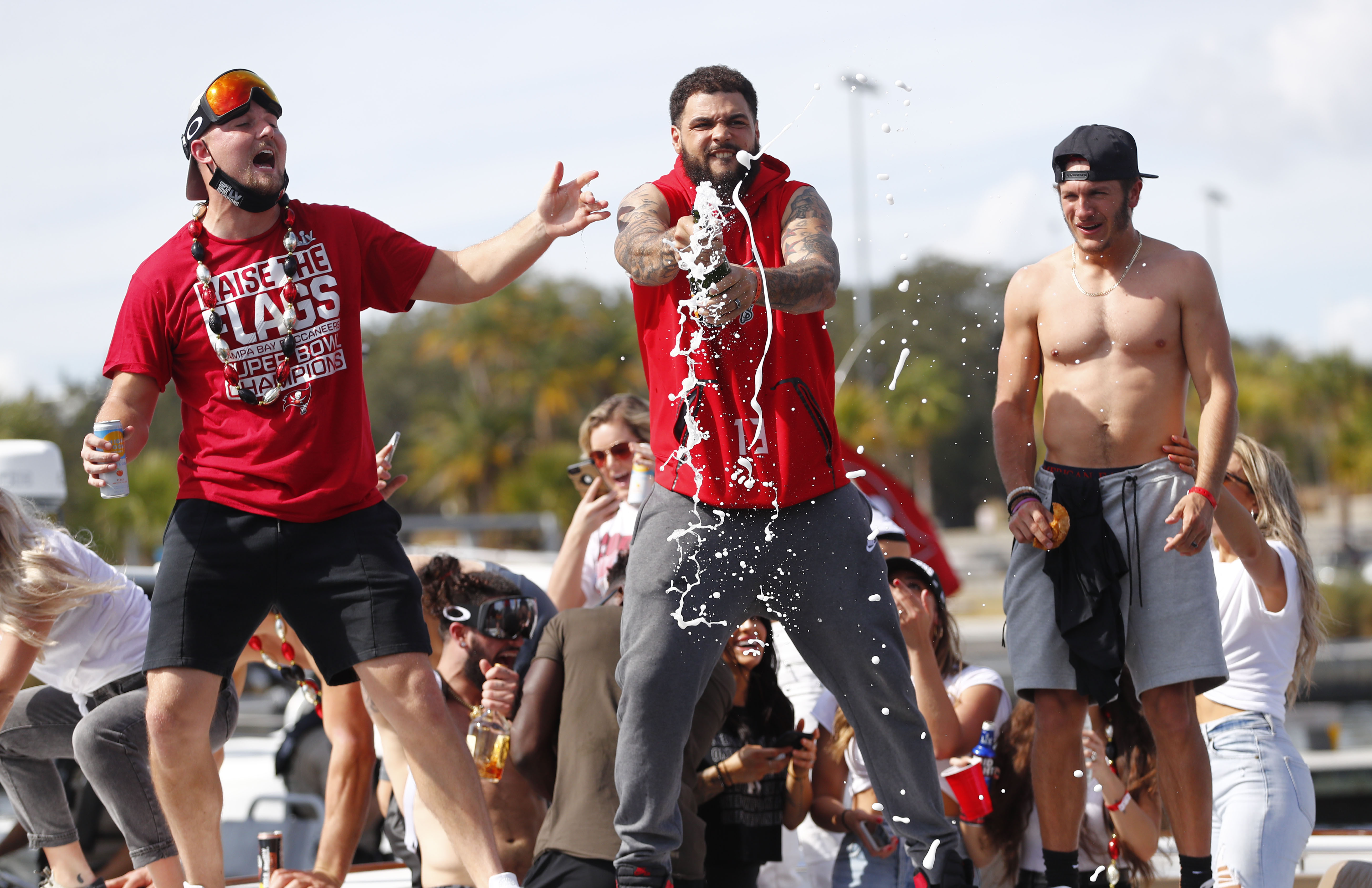 NFL: Super Bowl LV-Champion Tampa Bay Buccanners Boat Parade