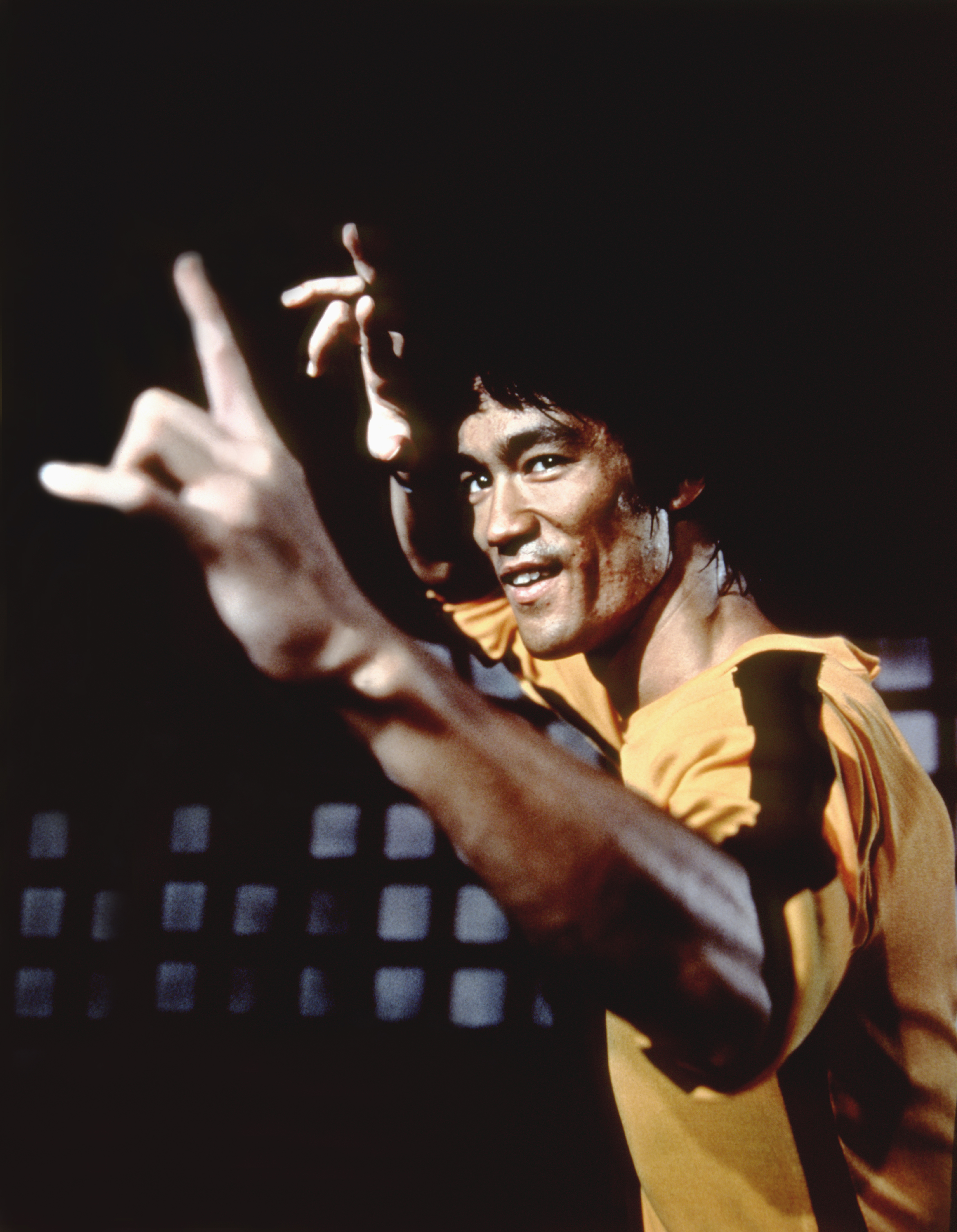 Bruce Lee on the set of 'Game of Death'