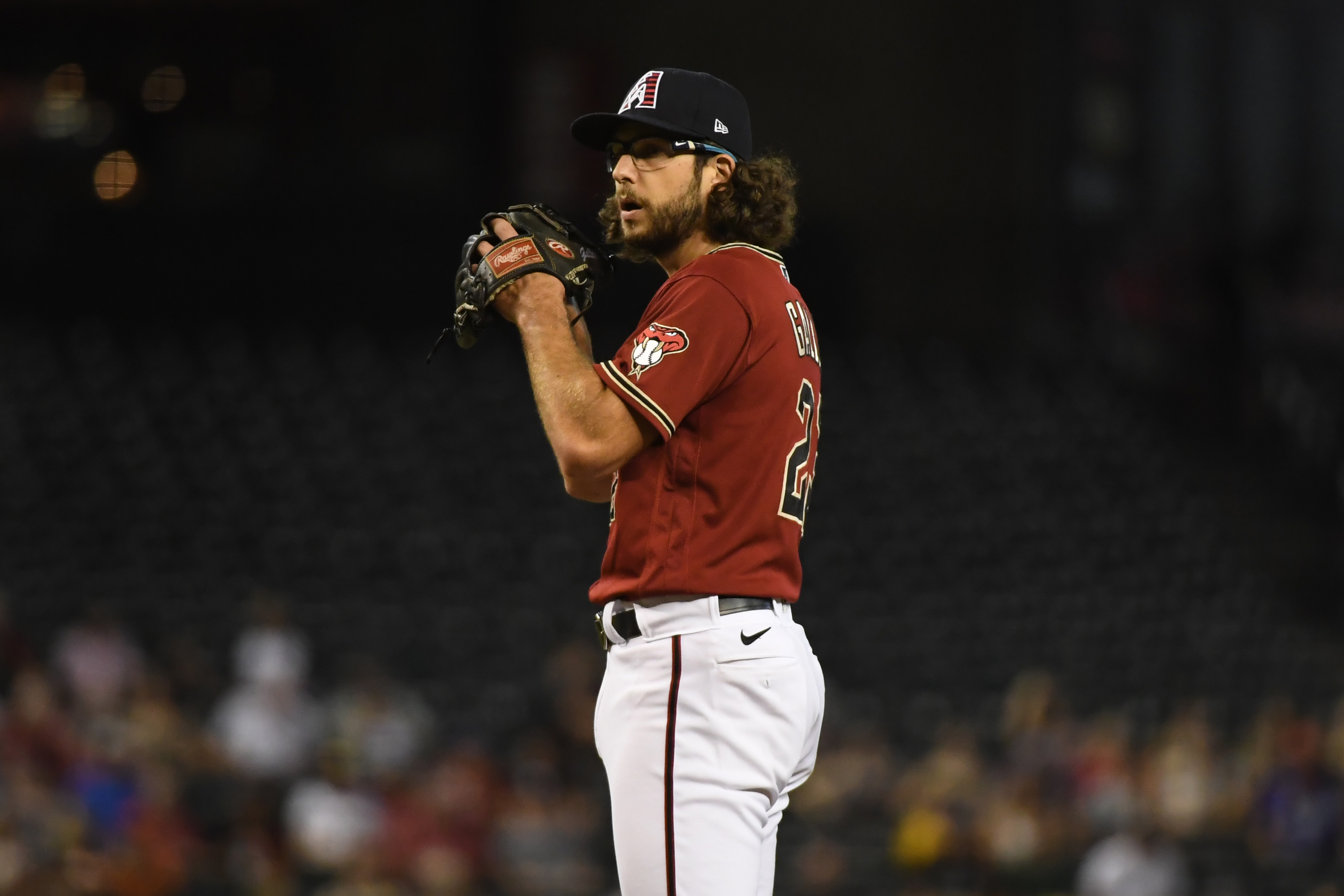 Zac Gallen #23 of the Arizona Diamondbacks delivers a pitch against the San Francisco Giants at Chase Field on July 02, 2021 in Phoenix, Arizona.
