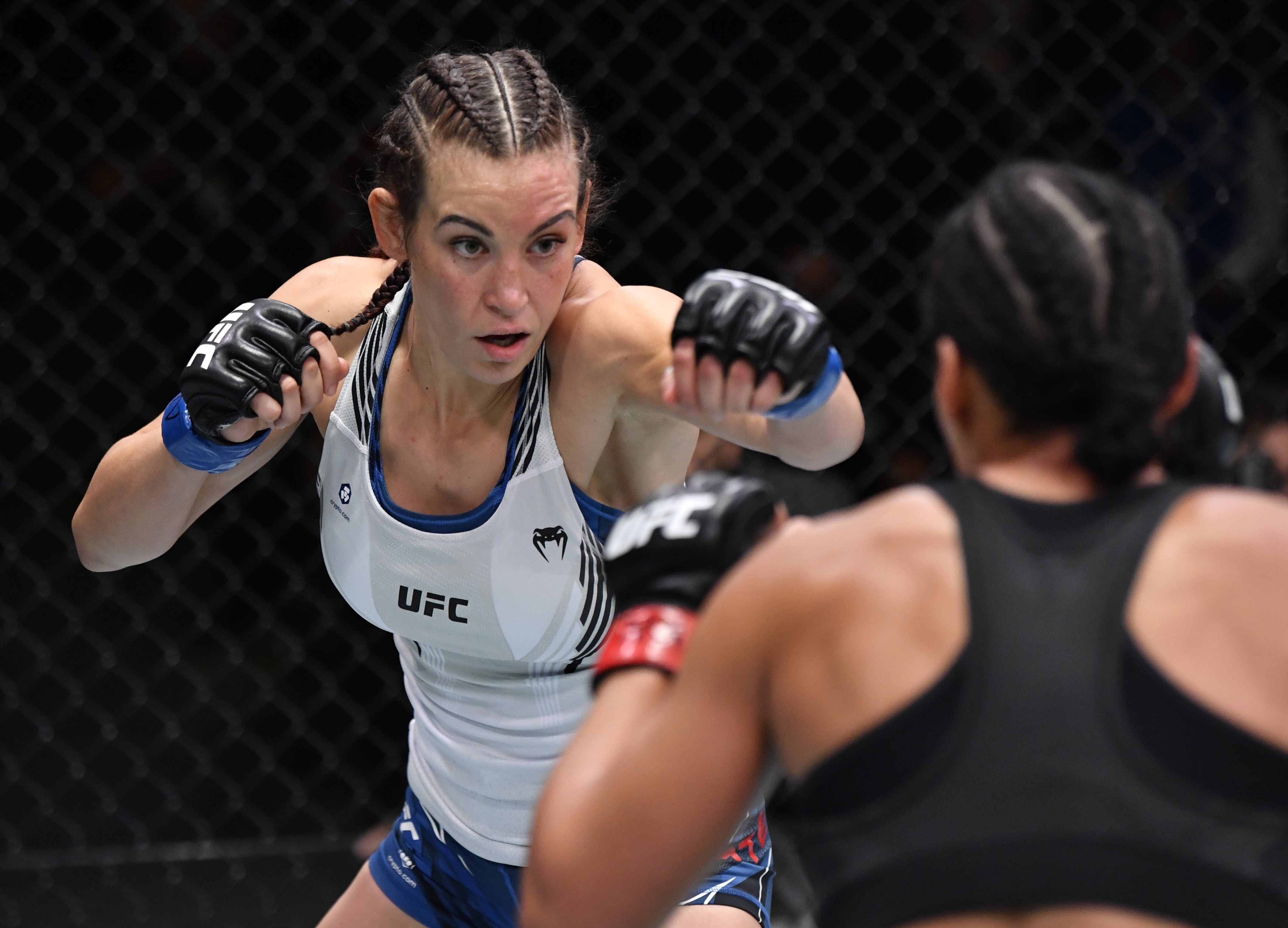 Miesha Tate during her fight with Marion Reneau.