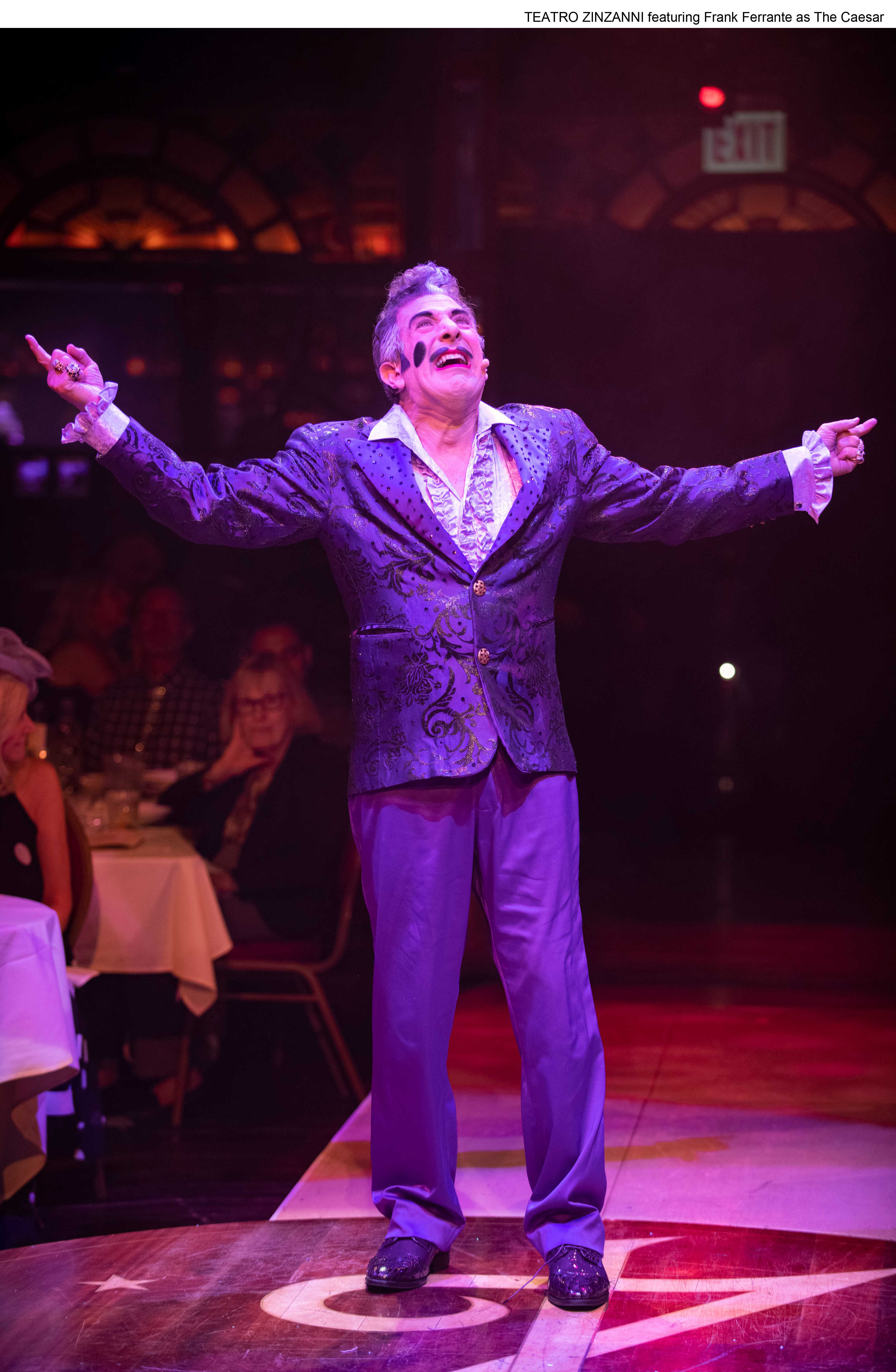 Frank Ferrante reprises his role as The Caesar in the revamped Teatro ZinZanni.