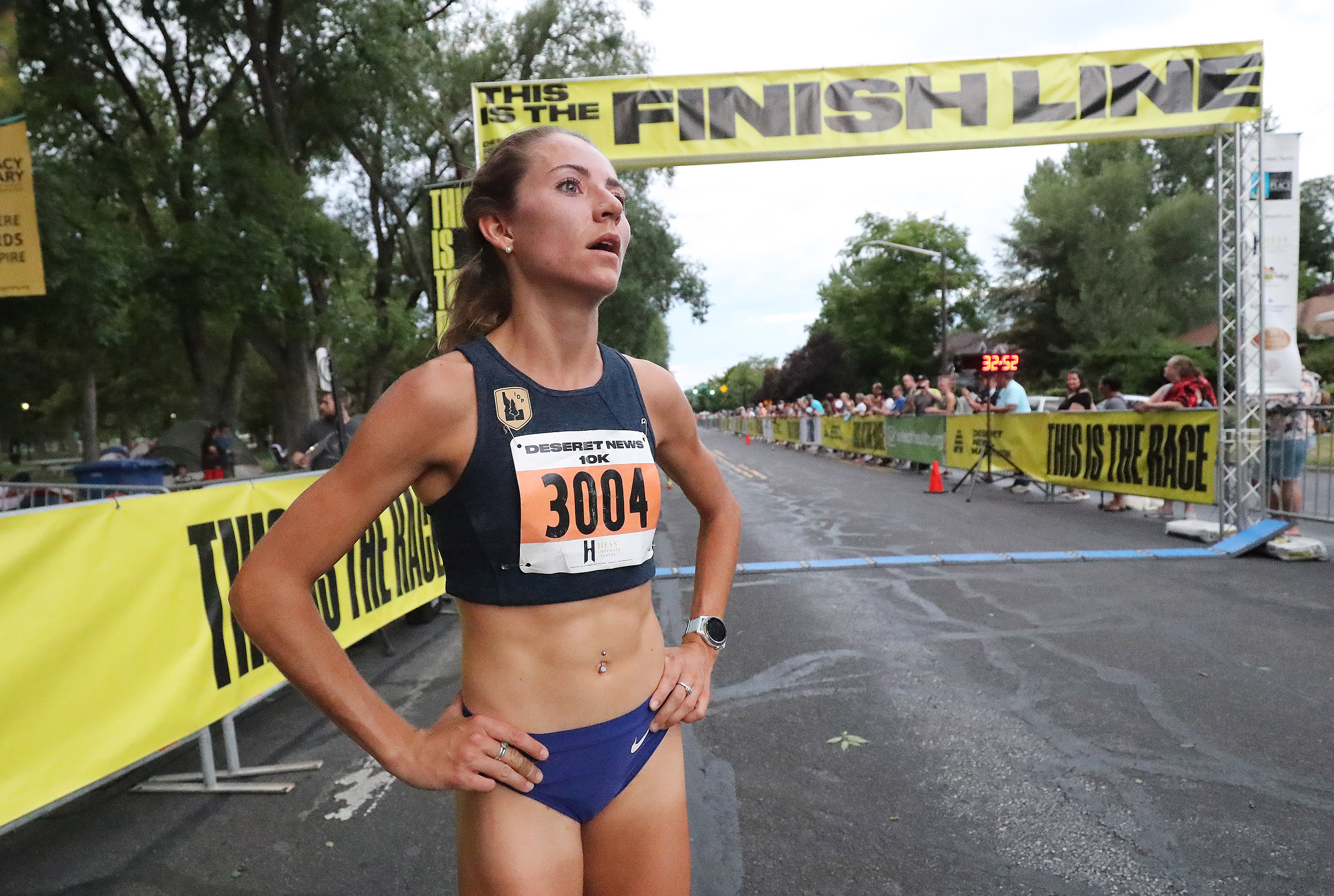Grayson Murphy wins the women's Deseret News 10K in Salt Lake City on Wednesday, July 24, 2019.