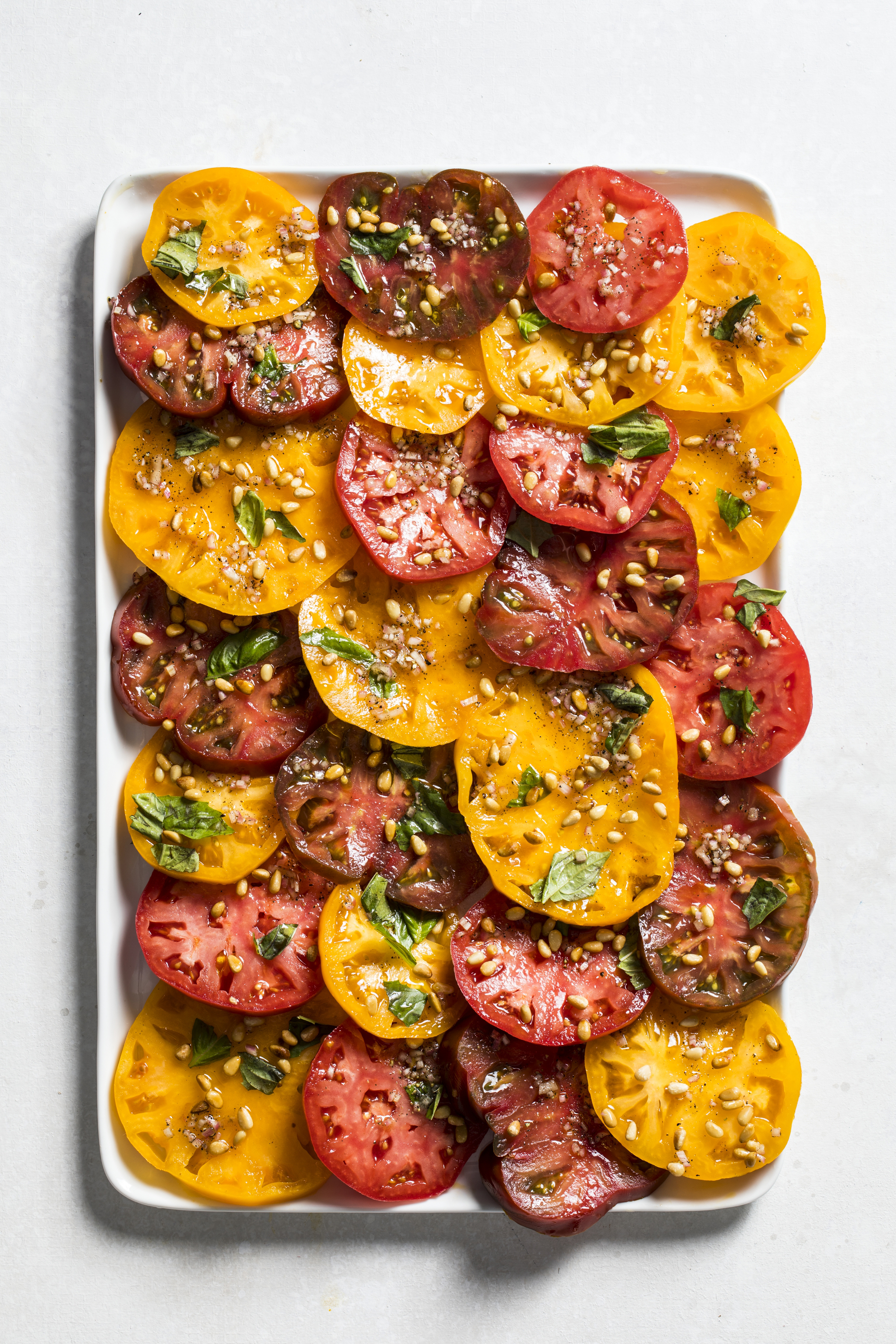 A simple tomato salad serves up a lot of flavor.