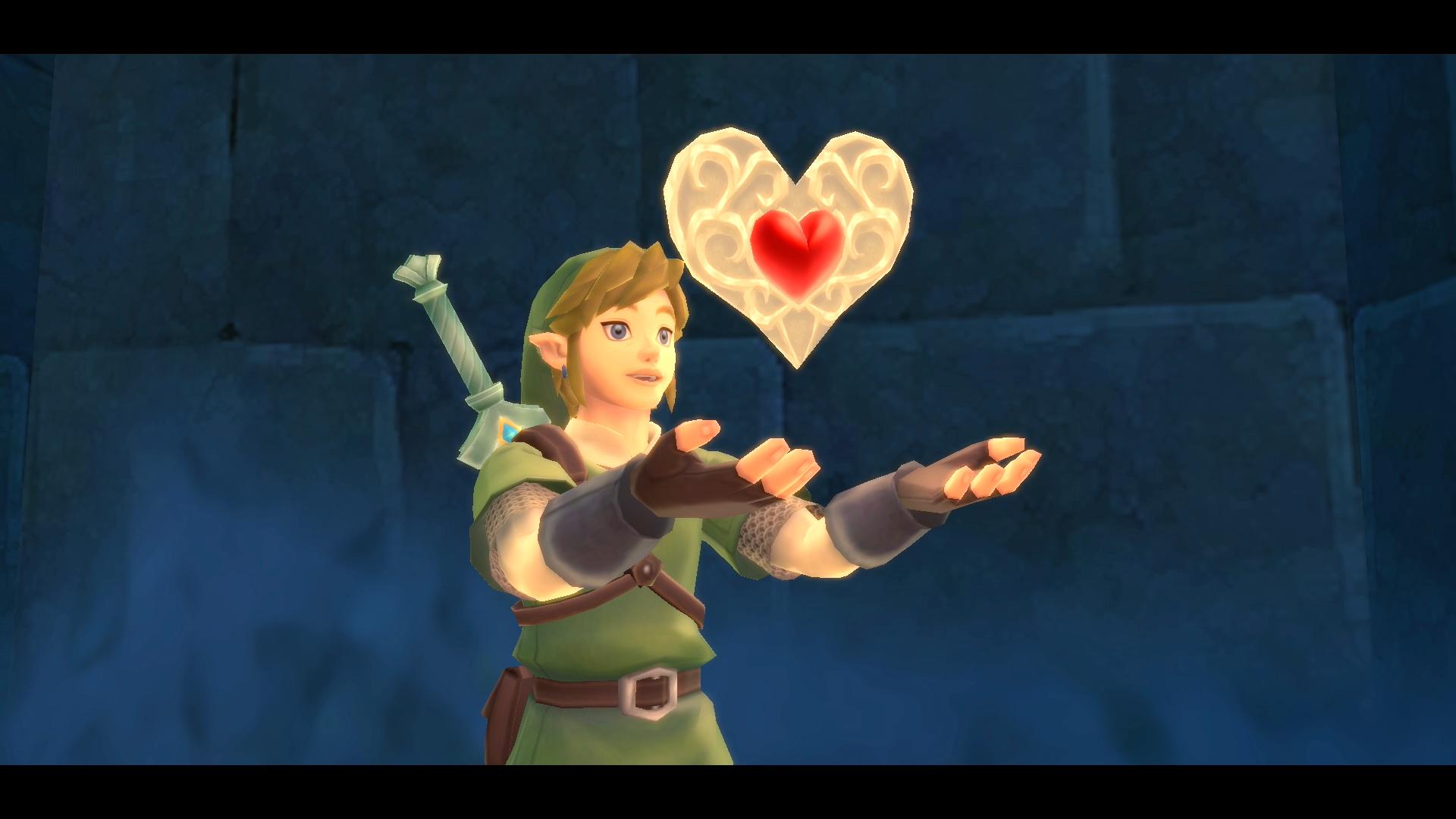 Link from The Legend of Zelda: Skyward Sword holding a heart