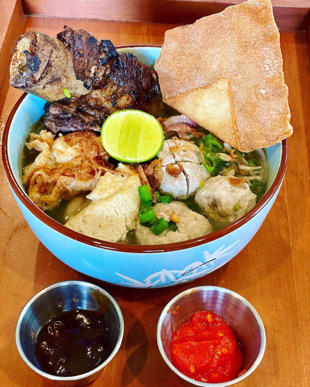 Yeni's Fusion's bakso (meatball) soup with beef ribs
