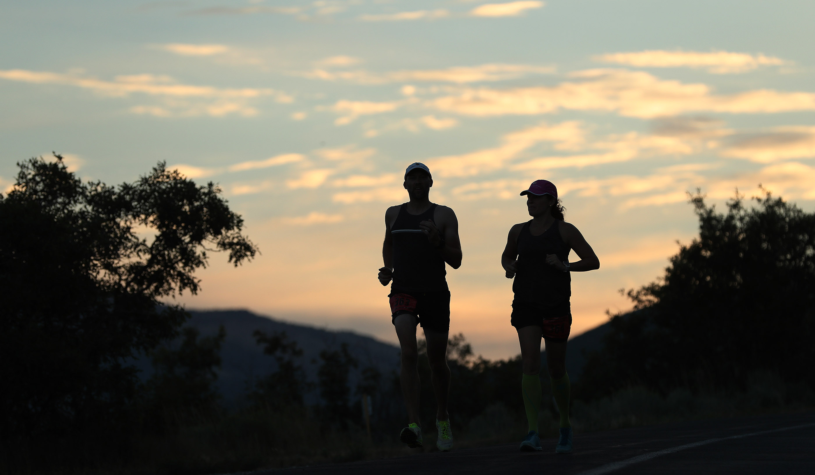 Runners compete in the Deseret News marathon in Emigration Canyon on Tuesday, July 24, 2018.