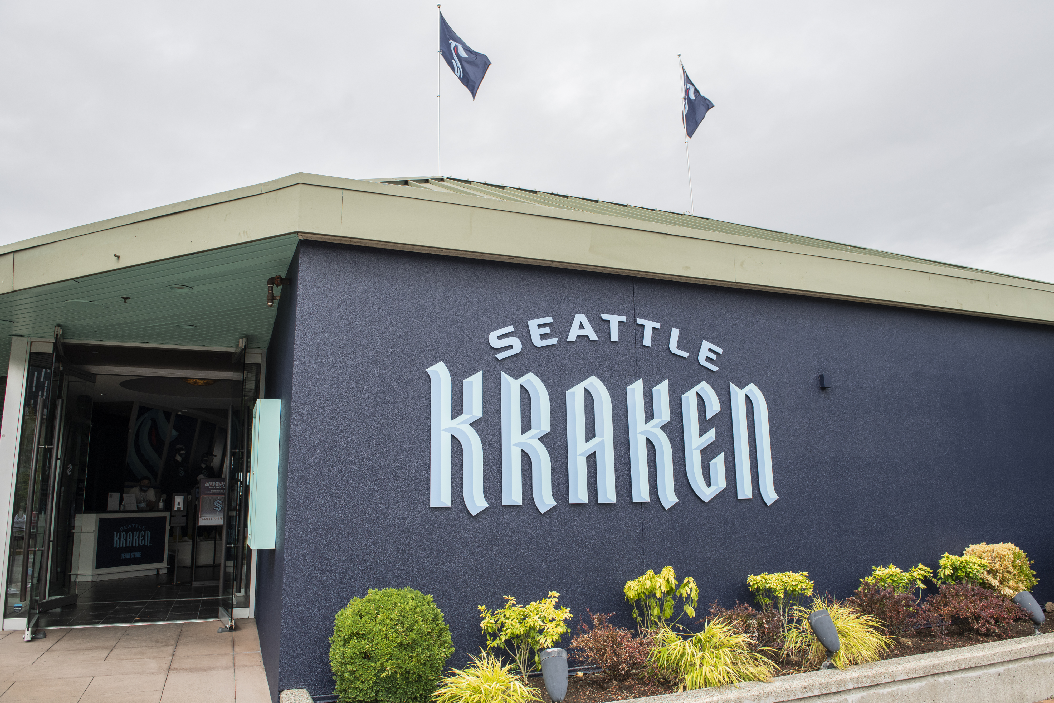 The Team Store for the Seattle Kraken, the NHL's newest franchise, opens for business on August 21, 2020 in Seattle, Washington.