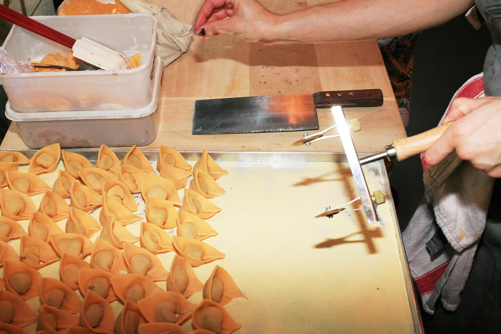 The pasta production process that hasn't stopped at Ombra since March