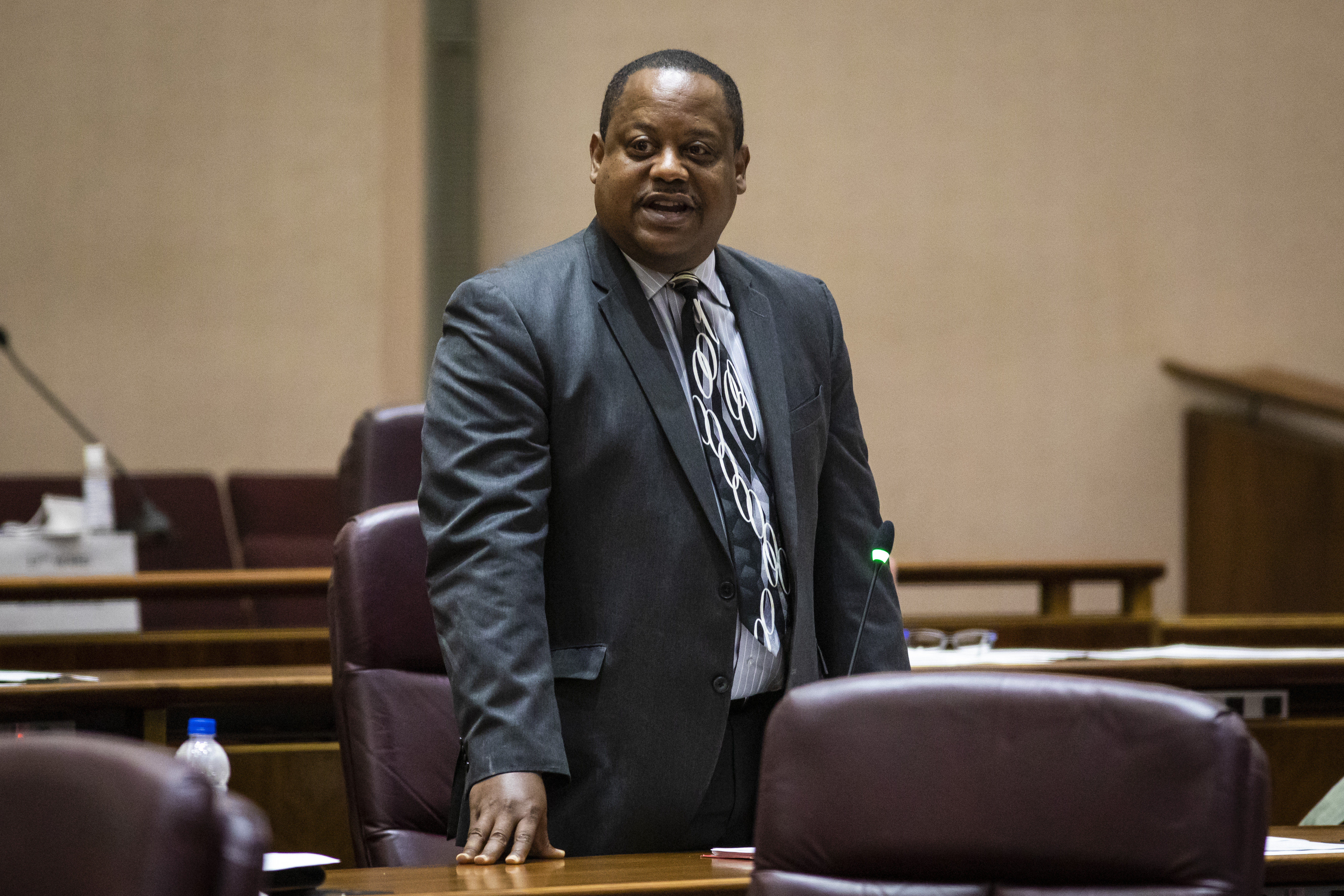 Ald. Roderick Sawyer (6th) speaks in support of a proposal for civilian oversight of the Chicago Police Department during a Chicago City Council meeting Wednesday, July 21, 2021 at City Hall.