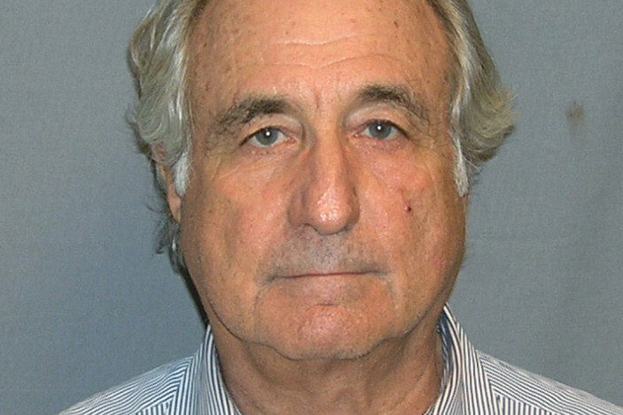 The Department of Justice released a mugshot of Bernie Madoff in 2009.