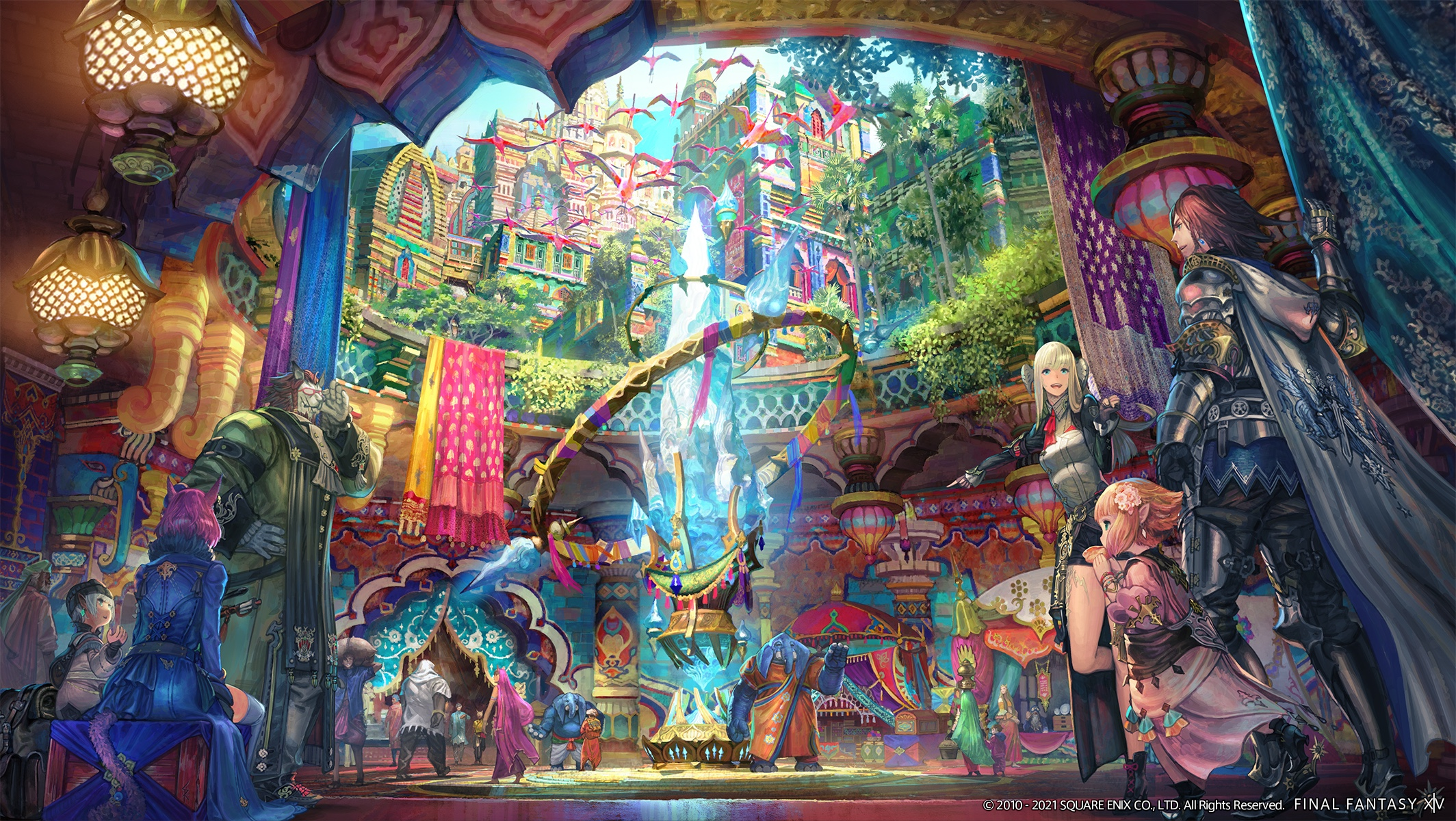 Artwork of the Final Fantasy 14 Endwalker expansion