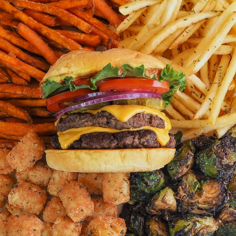 A double cheeseburger from Smashburger