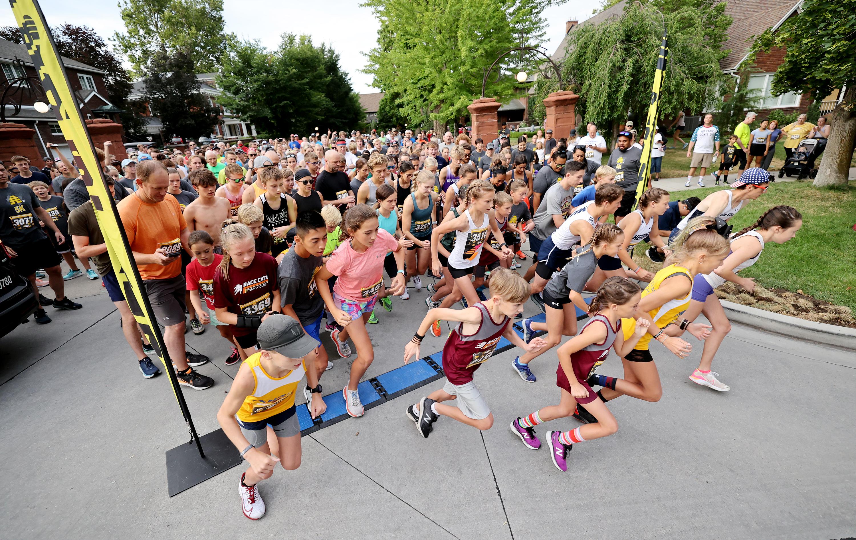 Runners start the Deseret News 5K in Salt Lake City.