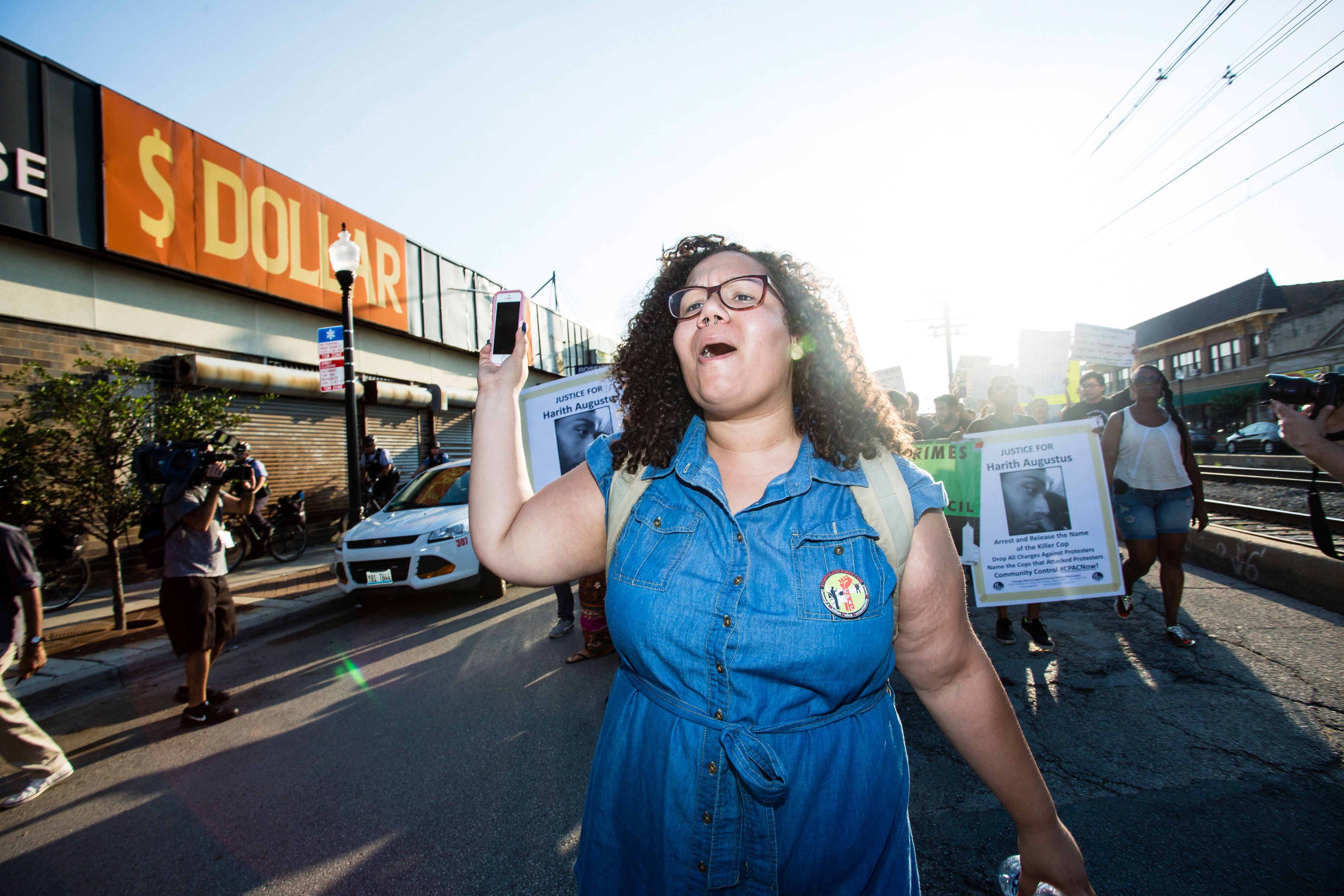 Community activist Jazmine Salas, seen here in 2018, was among those on Friday celebrating the passage of the civilian oversight ordinance this week.