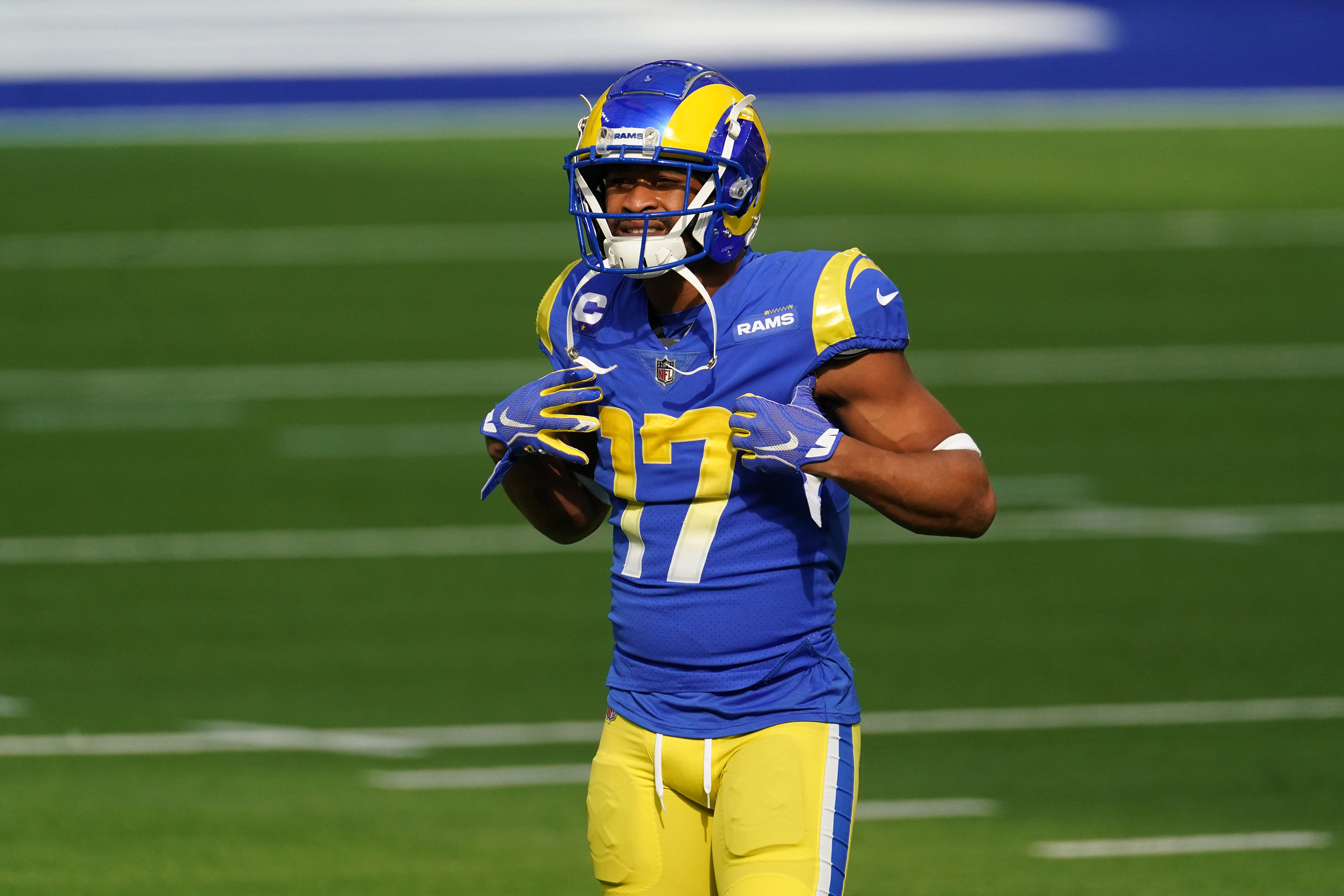 Los Angeles Rams wide receiver Robert Woods before the game against the San Francisco 49ers at SoFi Stadium.