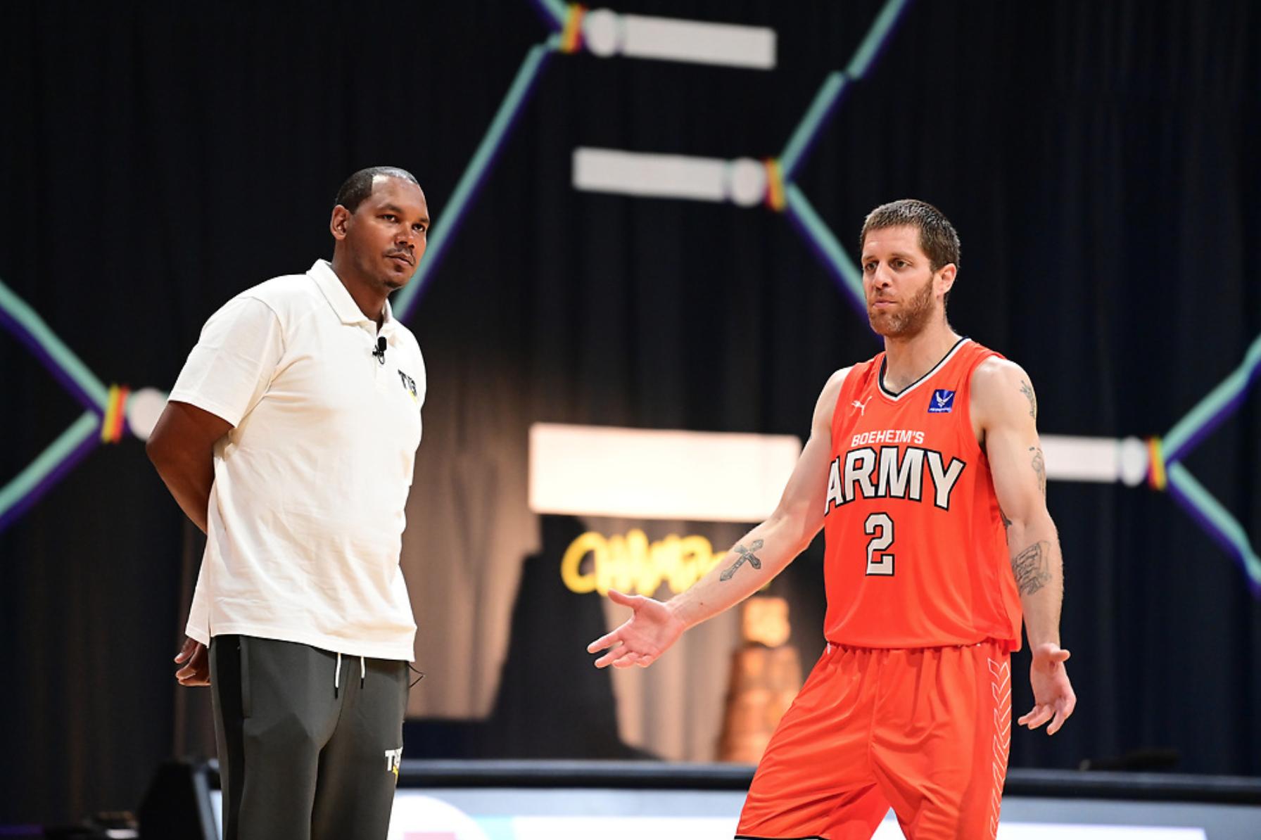 Boeheim's Army head coach Ryan Blackwell with Eric Devendorf