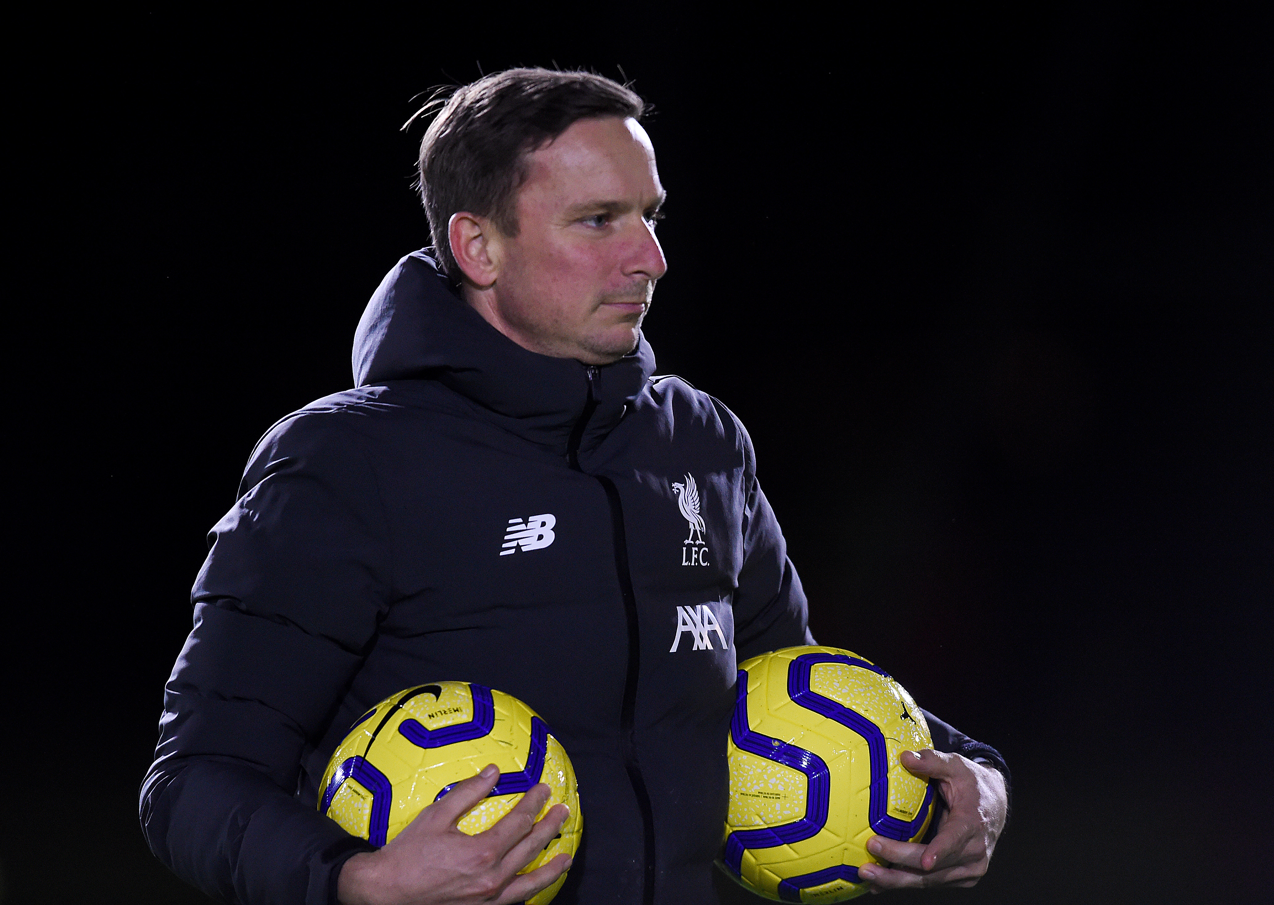 Liverpool's assistant manager Pepijn Lijnders during a training session at Melwood Training Ground on January 09, 2020