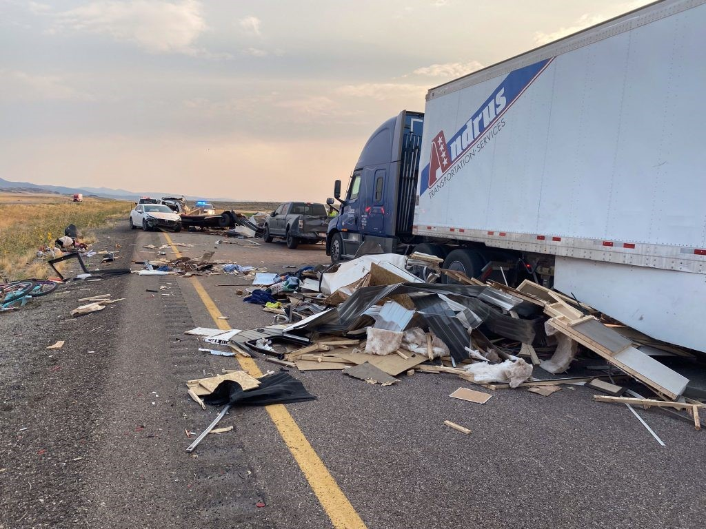 A sandstorm in Millard County caused a crash on I-15 Sunday that left at least seven people dead and multiple others injured, the Utah Highway Patrol said.