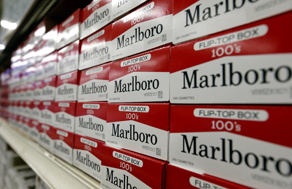 Cartons of Marlboro cigarettes in Burlington, N.C.