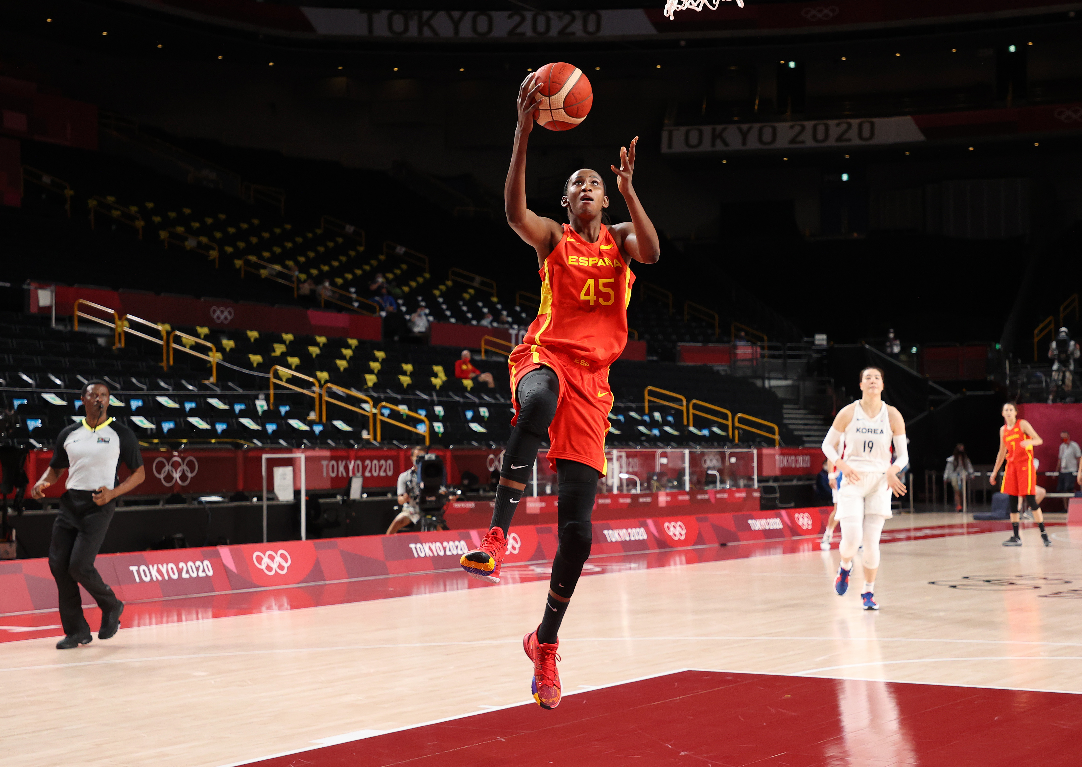 Republic of Korea v Spain Women's Basketball - Olympics: Day 3