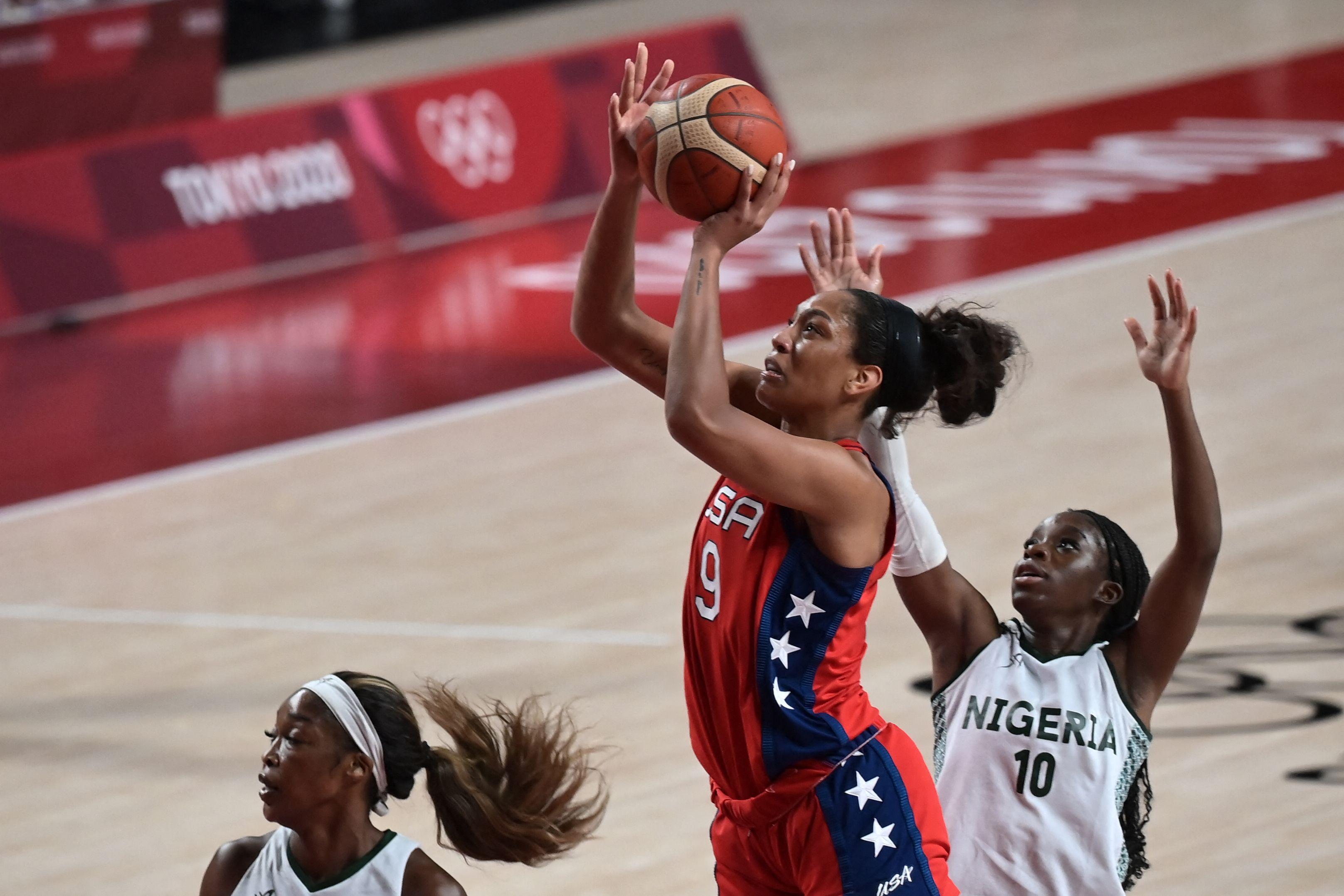 BASKETBALL-OLY-2020-2021-TOKYO-NGR-USA